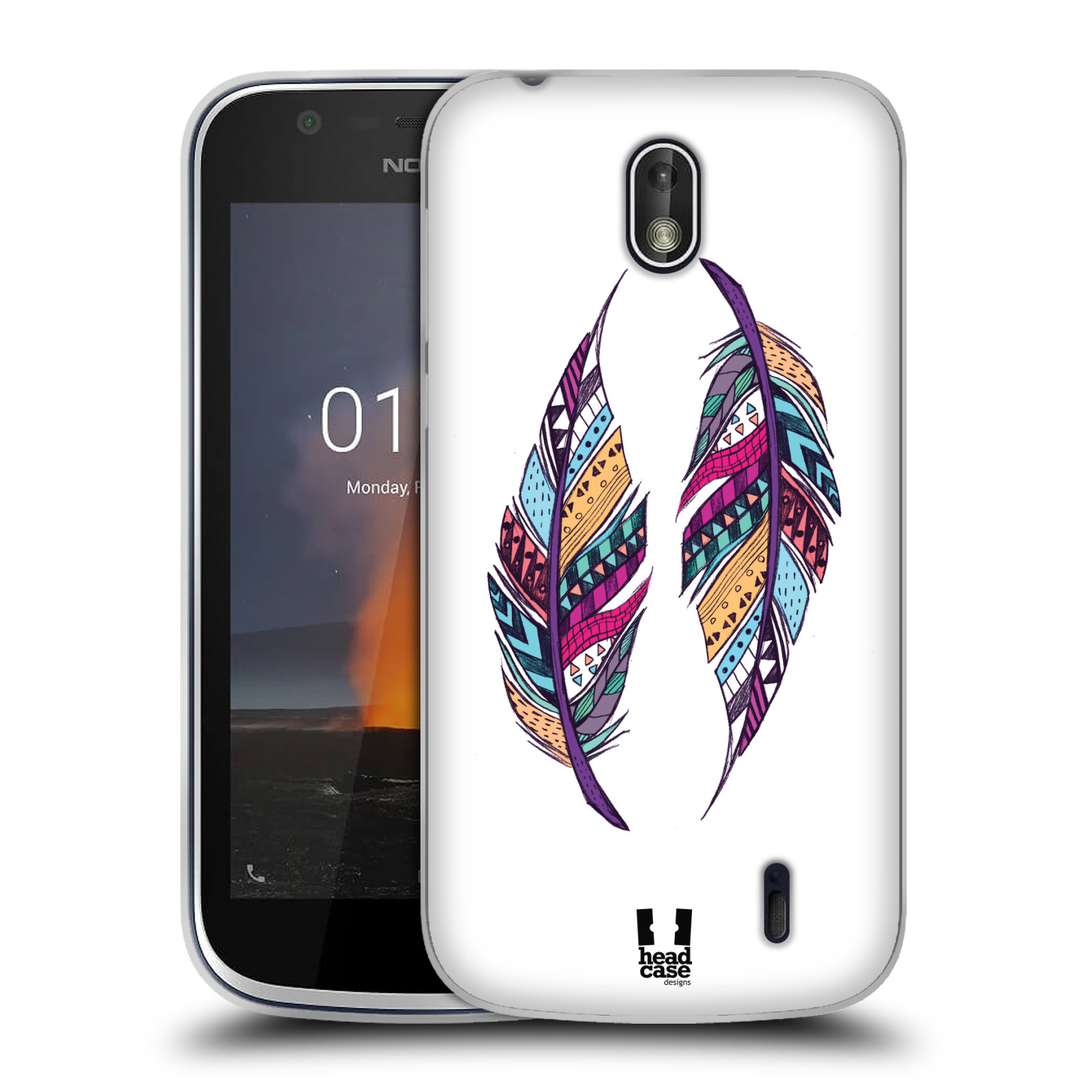 Silikonové pouzdro na mobil Nokia 1 - Head Case - AZTEC PÍRKA