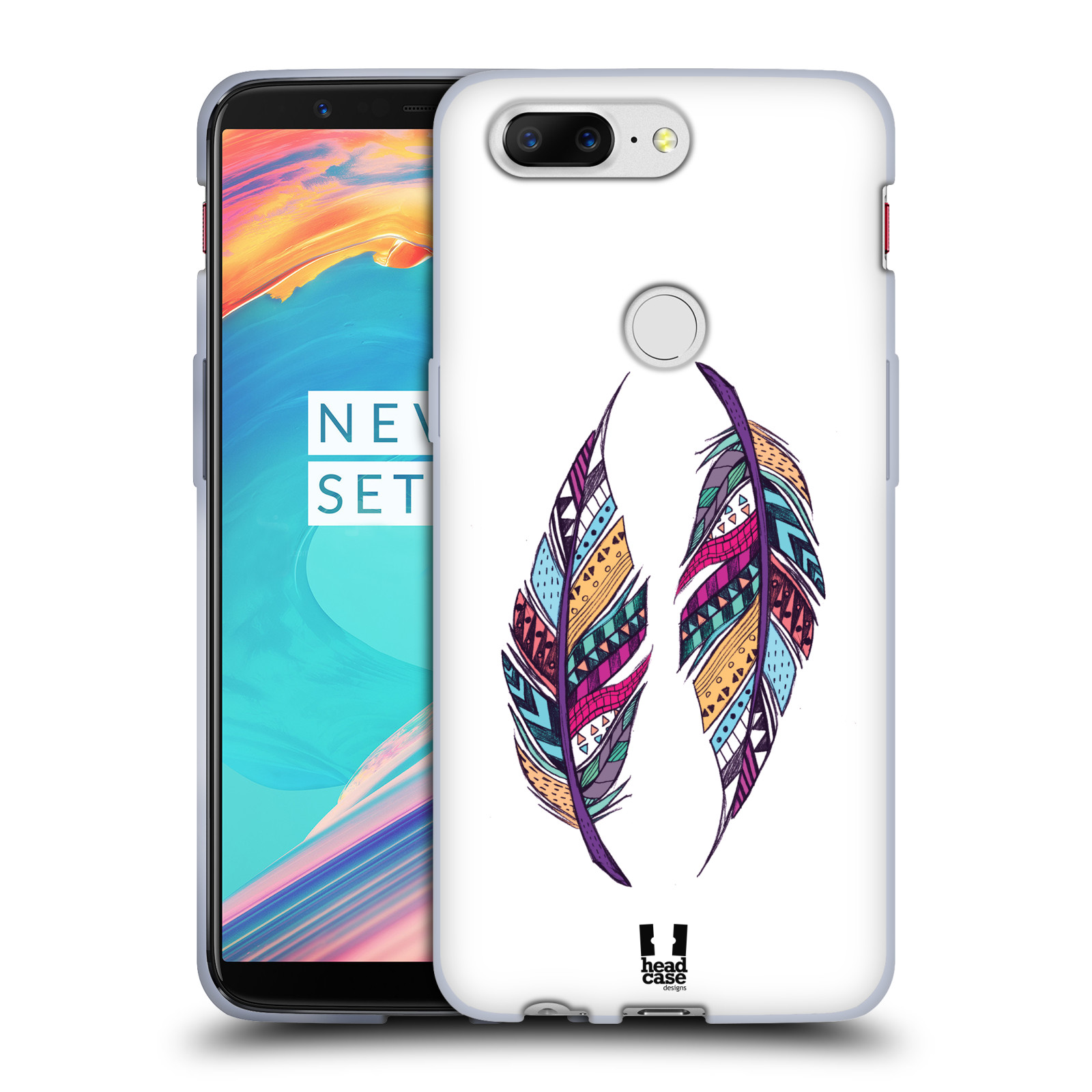 Silikonové pouzdro na mobil OnePlus 5T - Head Case - AZTEC PÍRKA
