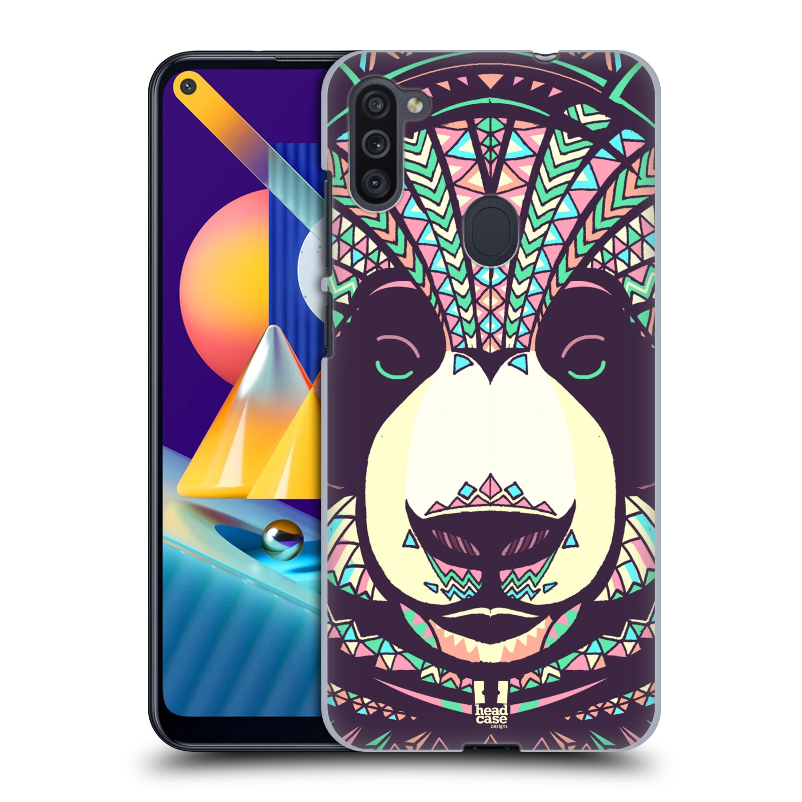 Plastové pouzdro na mobil Samsung Galaxy M11 - Head Case - AZTEC PANDA