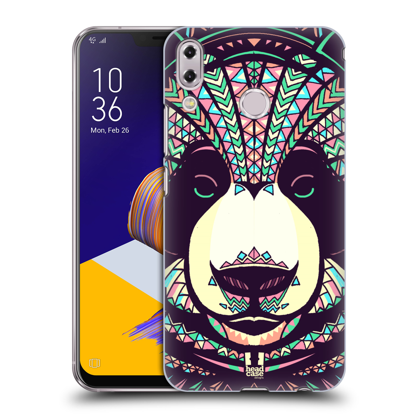 Plastové pouzdro na mobil Asus Zenfone 5z ZS620KL - Head Case - AZTEC PANDA