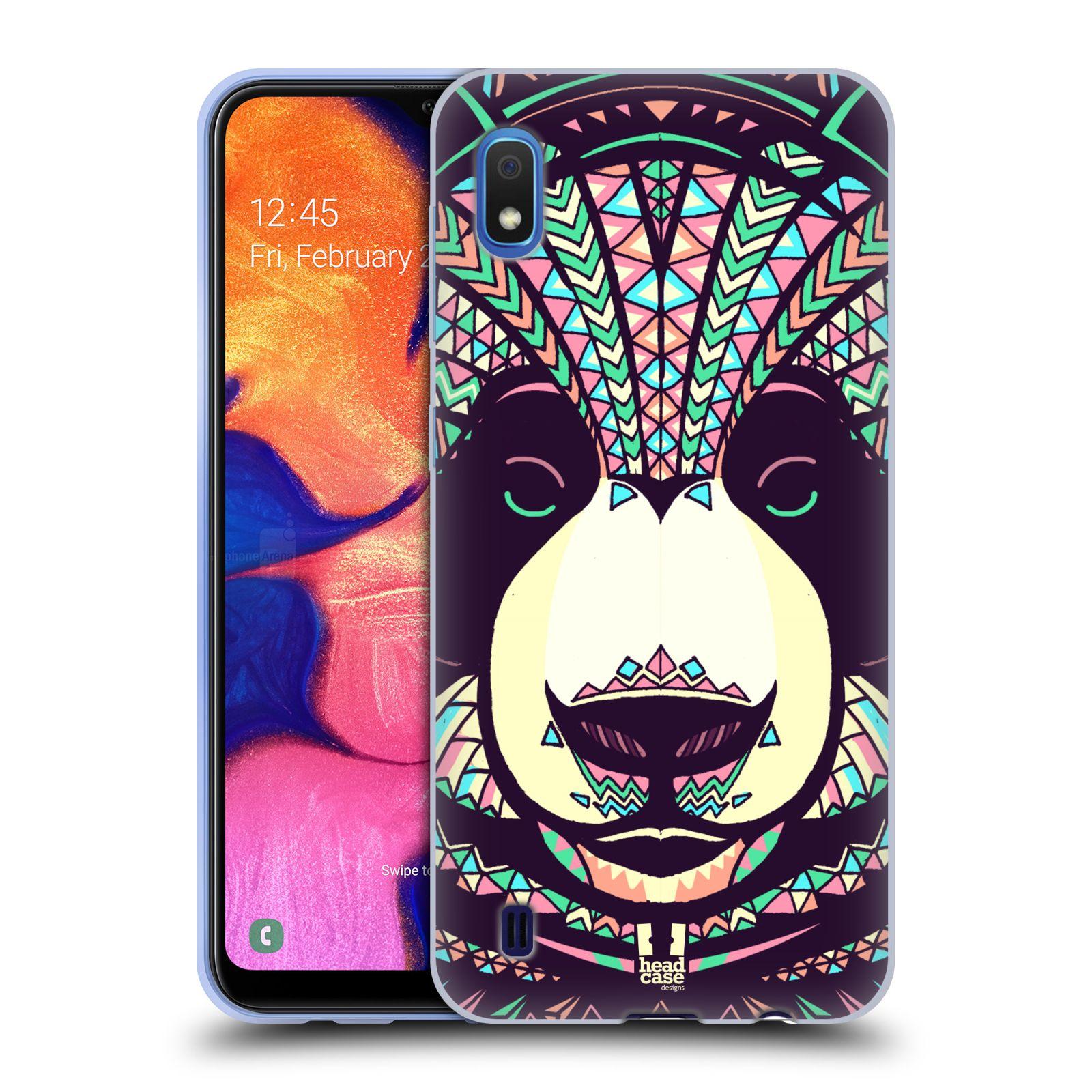 Silikonové pouzdro na mobil Samsung Galaxy A10 - Head Case - AZTEC PANDA