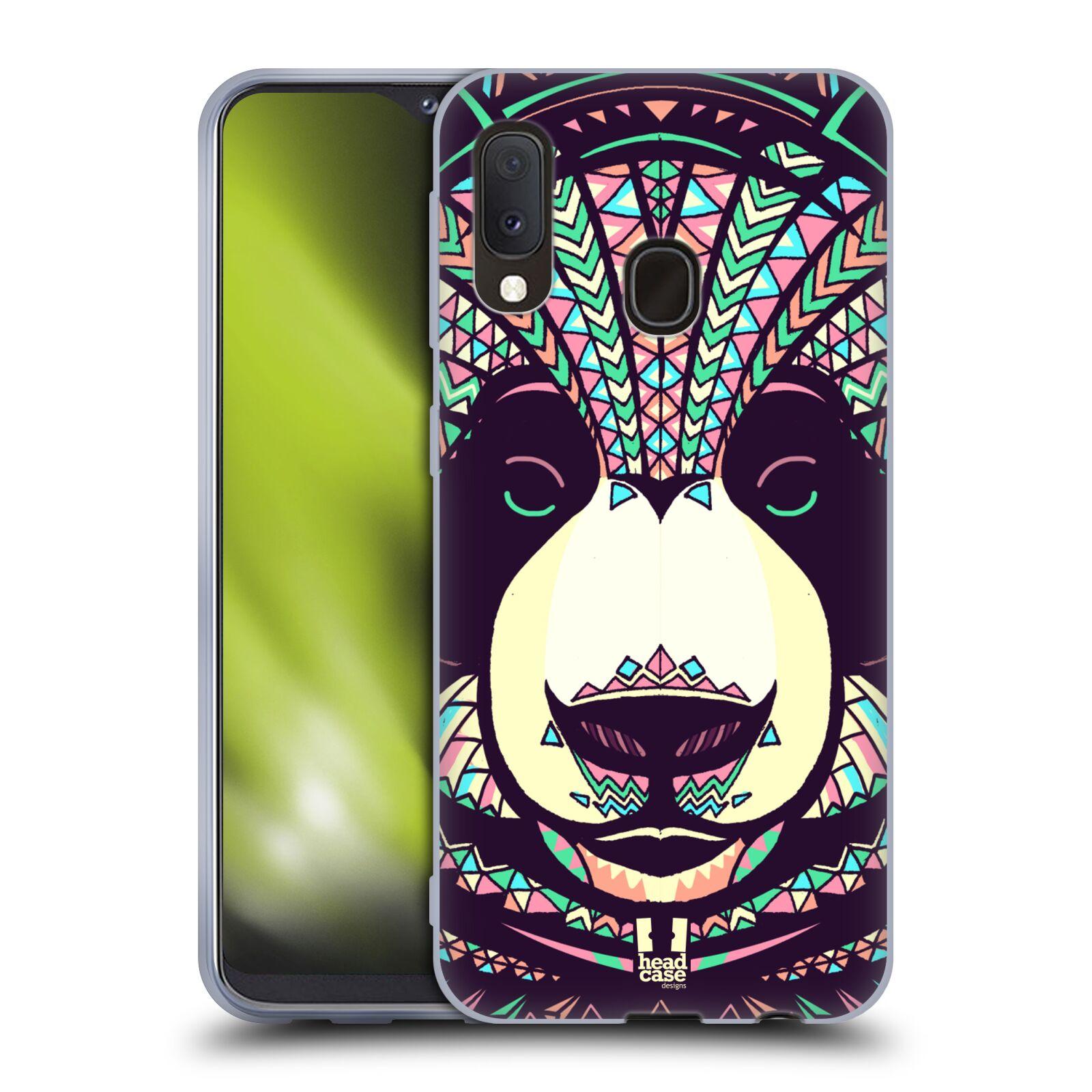 Silikonové pouzdro na mobil Samsung Galaxy A20e - Head Case - AZTEC PANDA