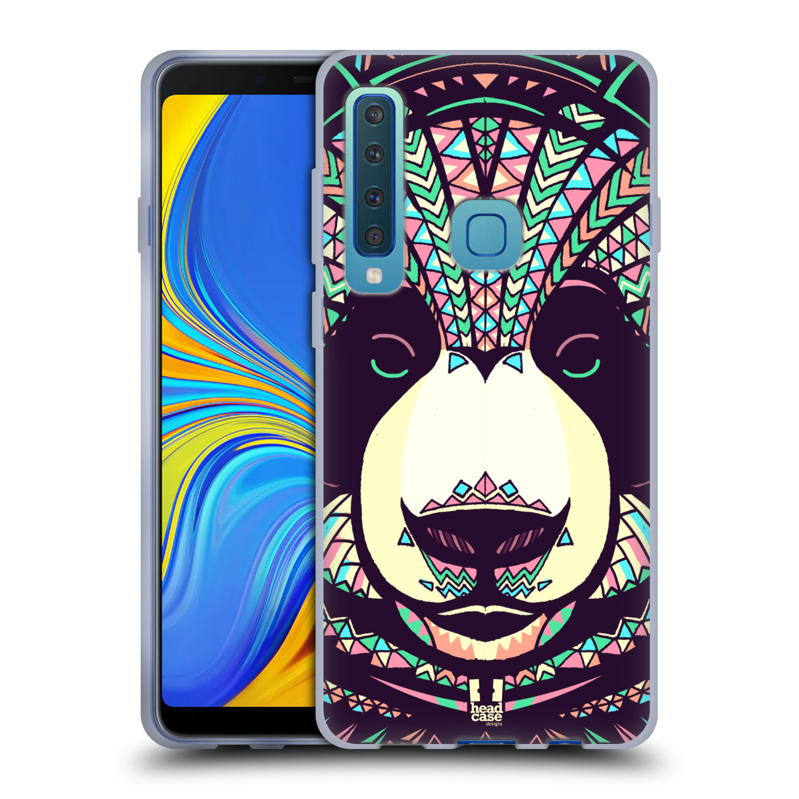 Silikonové pouzdro na mobil Samsung Galaxy A9 (2018) - Head Case - AZTEC PANDA
