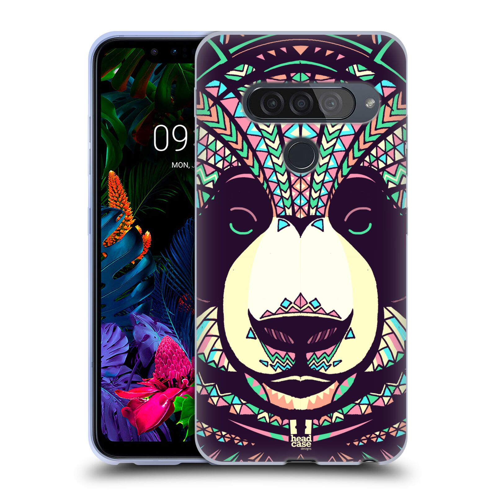 Silikonové pouzdro na mobil LG G8s ThinQ - Head Case - AZTEC PANDA