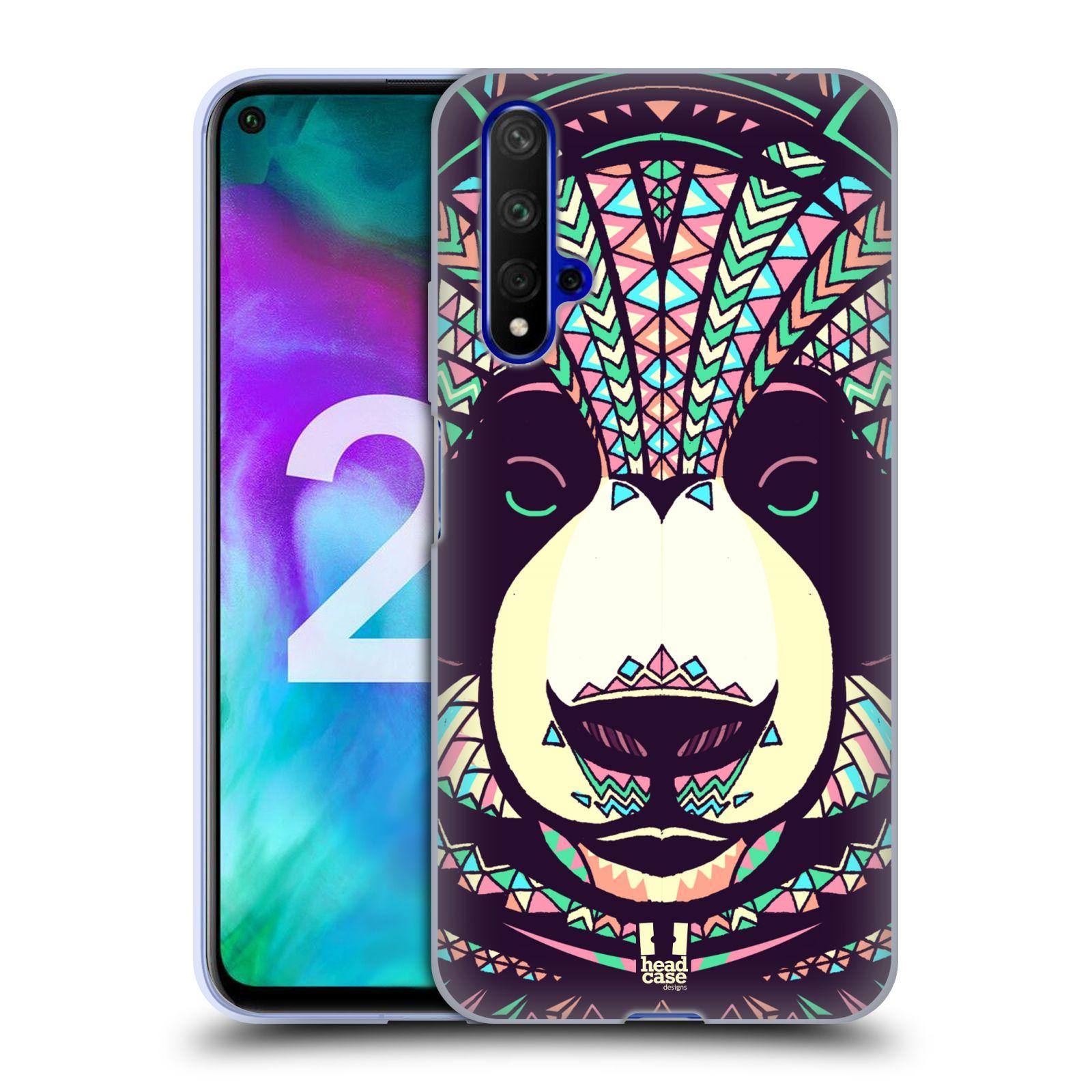 Silikonové pouzdro na mobil Honor 20 - Head Case - AZTEC PANDA