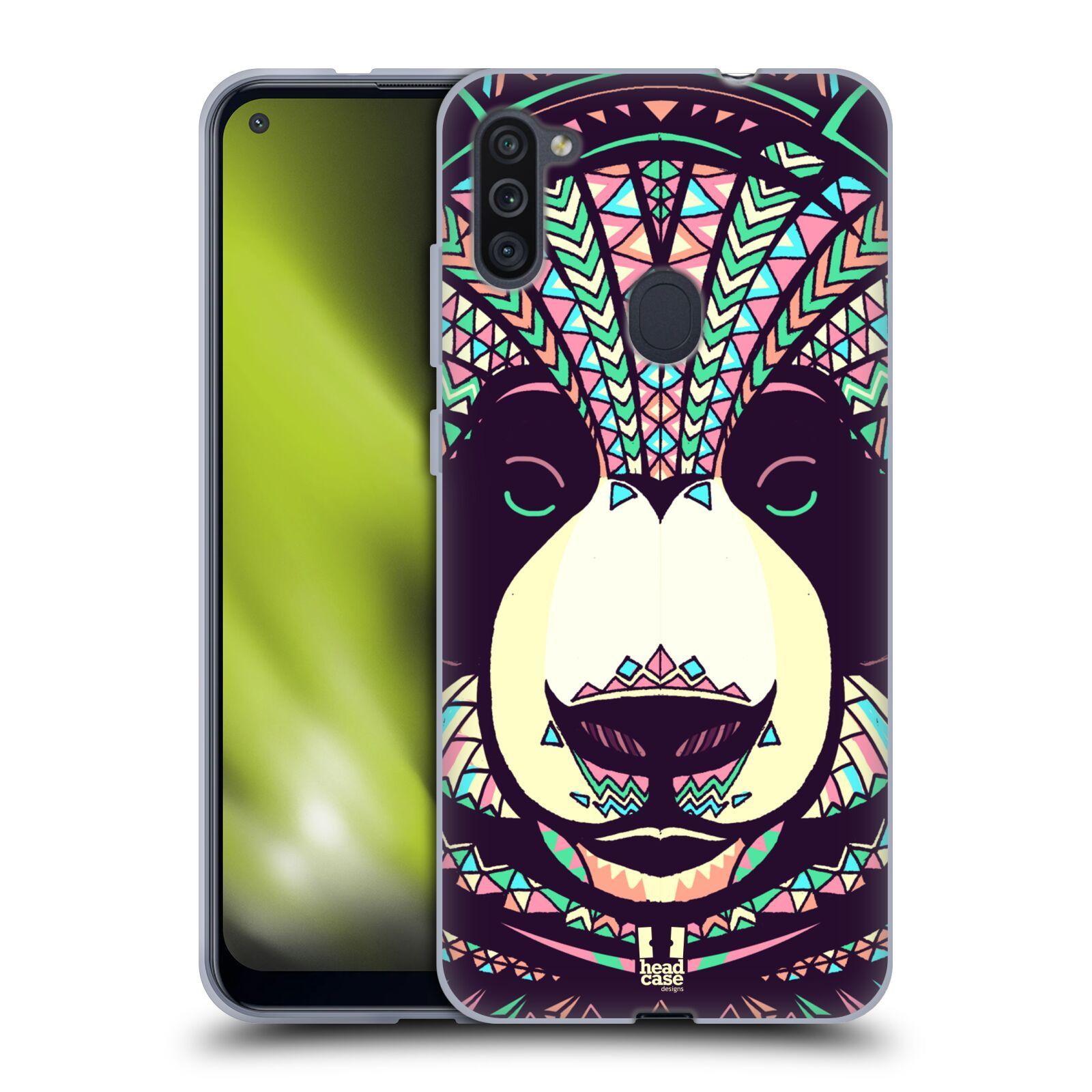 Silikonové pouzdro na mobil Samsung Galaxy M11 - Head Case - AZTEC PANDA