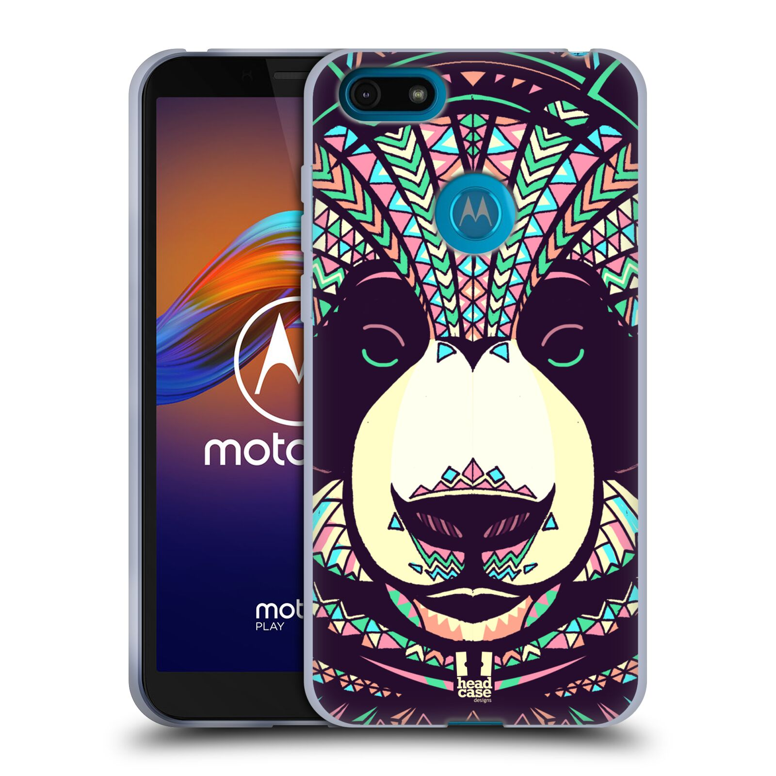 Silikonové pouzdro na mobil Motorola Moto E6 Play - Head Case - AZTEC PANDA