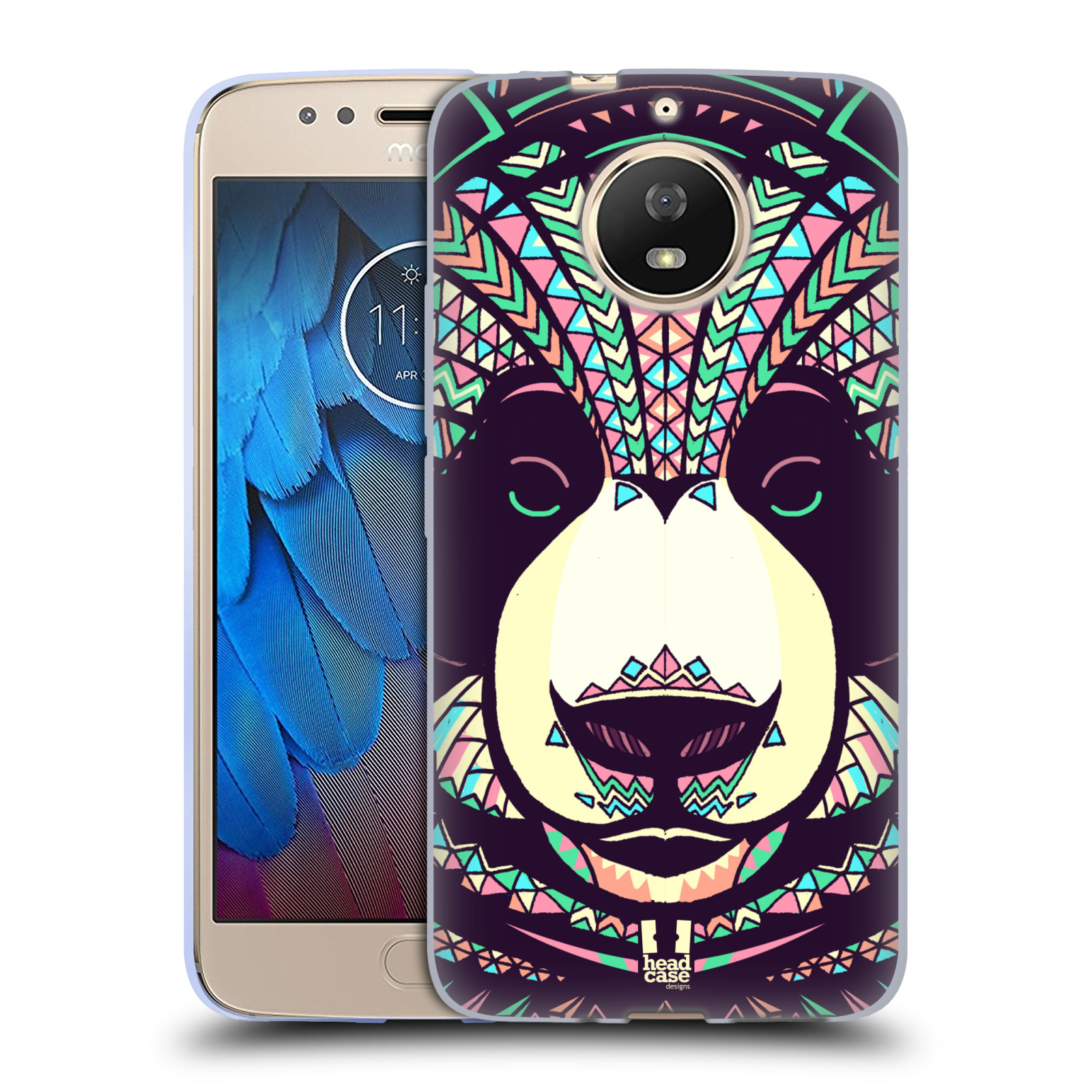 Silikonové pouzdro na mobil Lenovo Moto G5s - Head Case - AZTEC PANDA