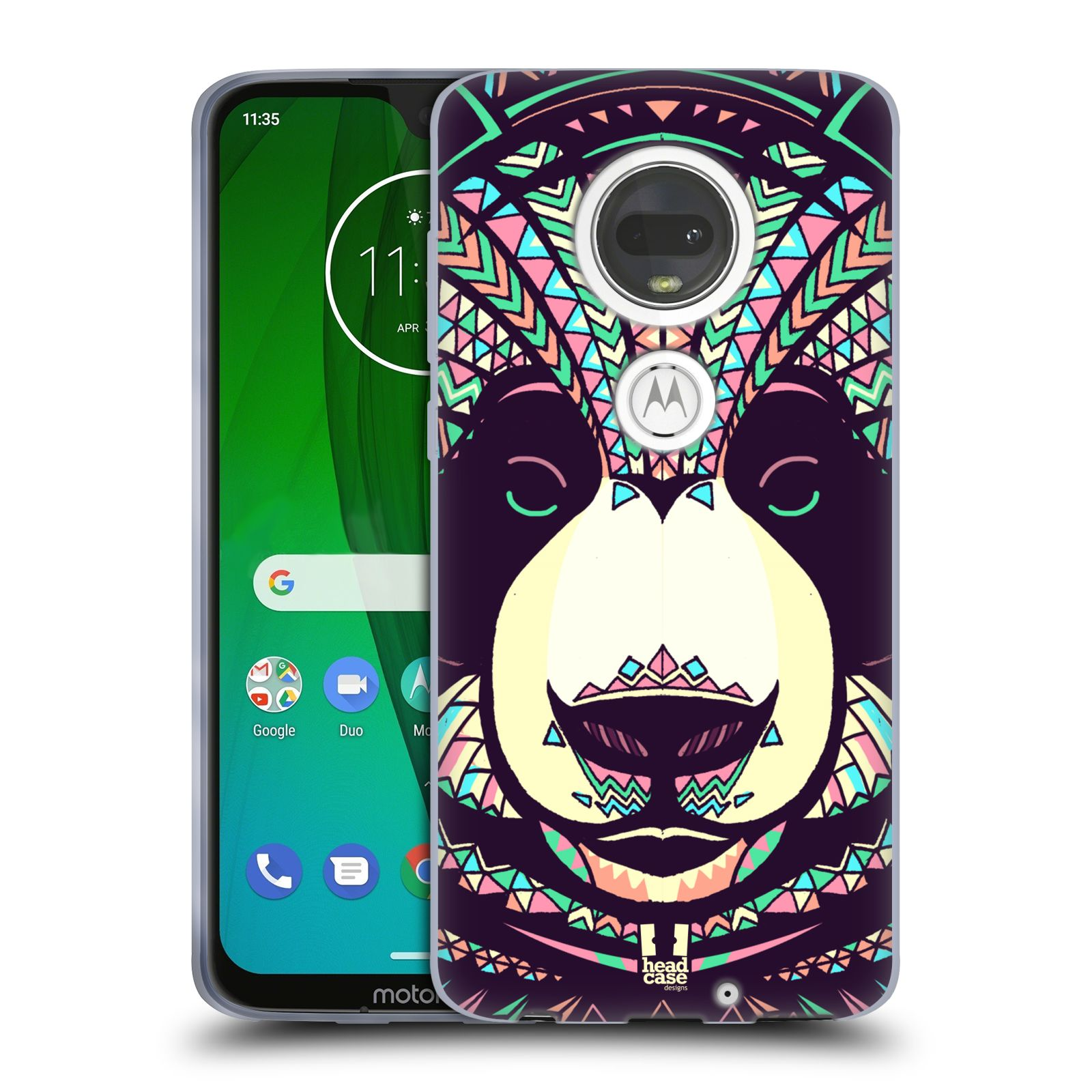 Silikonové pouzdro na mobil Motorola Moto G7 - Head Case - AZTEC PANDA