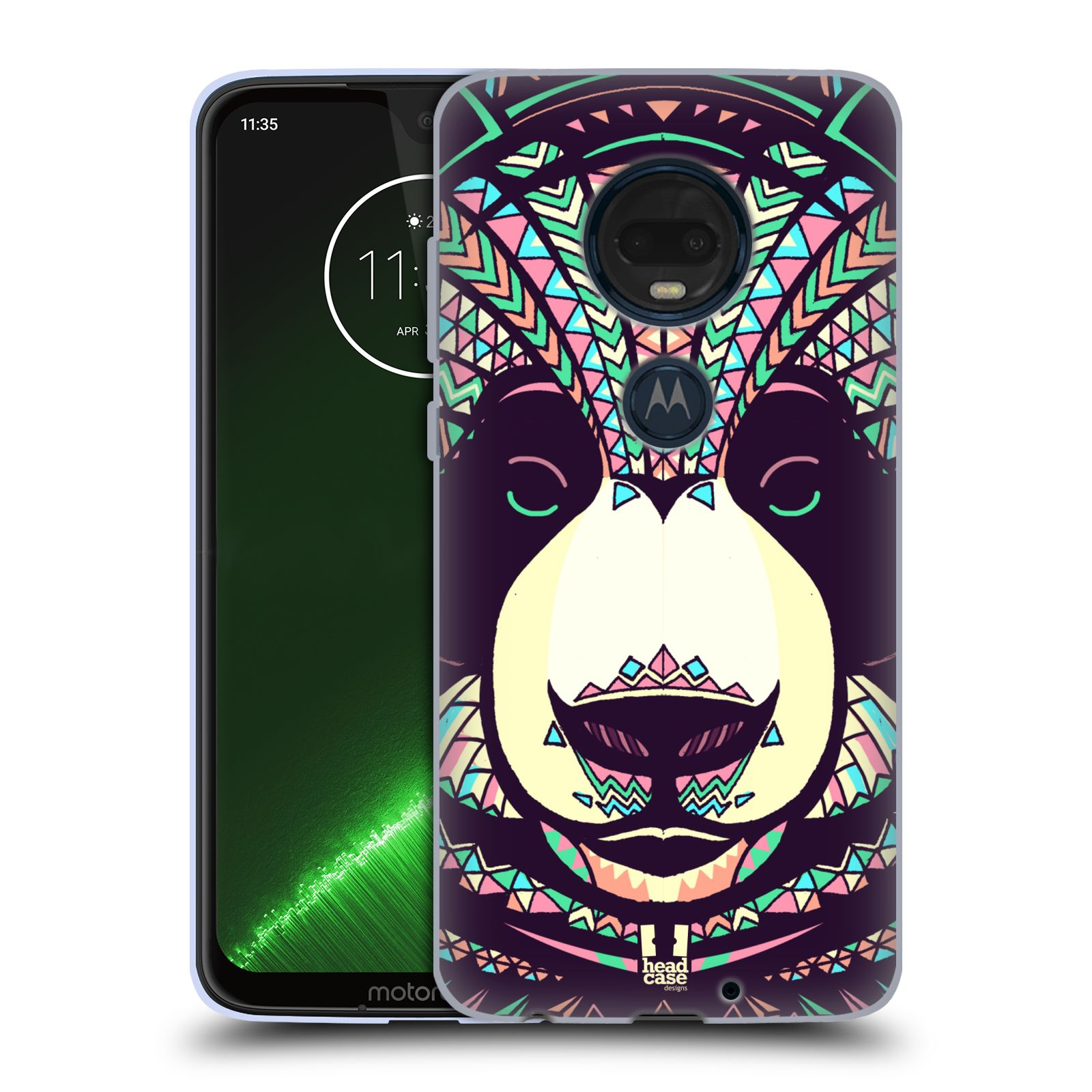 Silikonové pouzdro na mobil Motorola Moto G7 Plus - Head Case - AZTEC PANDA