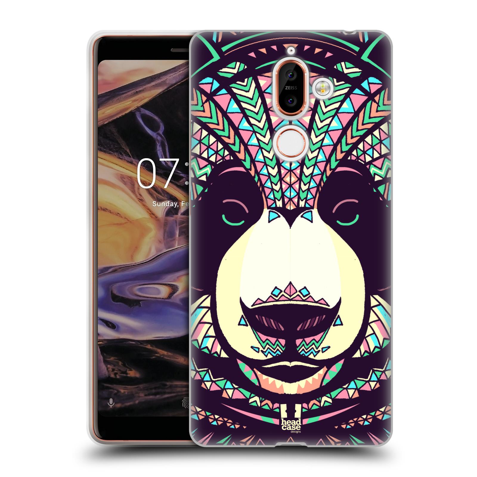 Silikonové pouzdro na mobil Nokia 7 Plus - Head Case - AZTEC PANDA