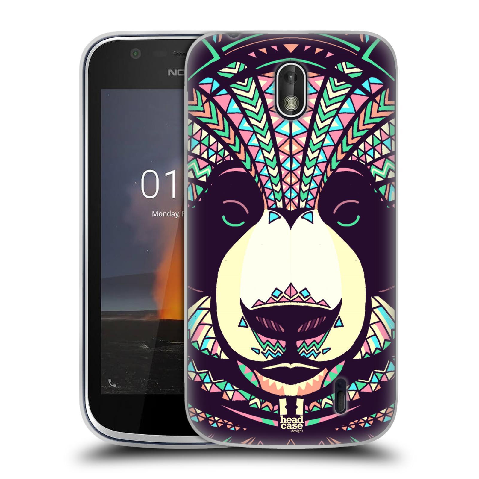 Silikonové pouzdro na mobil Nokia 1 - Head Case - AZTEC PANDA