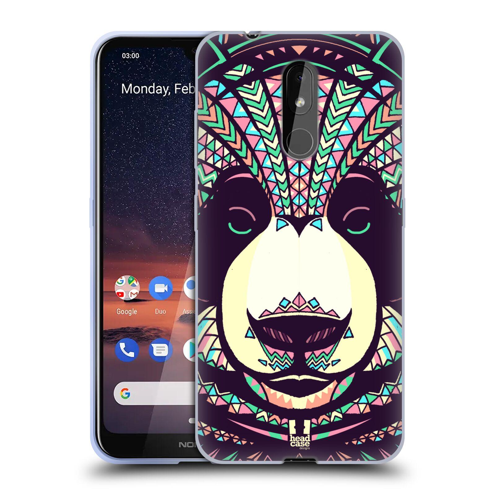 Silikonové pouzdro na mobil Nokia 3.2 - Head Case - AZTEC PANDA