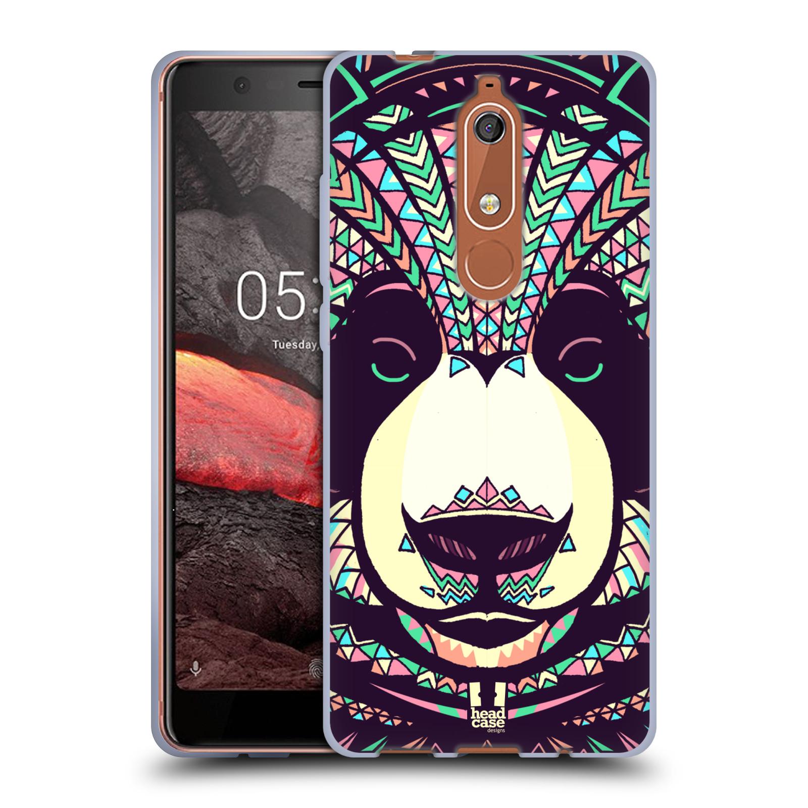 Silikonové pouzdro na mobil Nokia 5.1 - Head Case - AZTEC PANDA