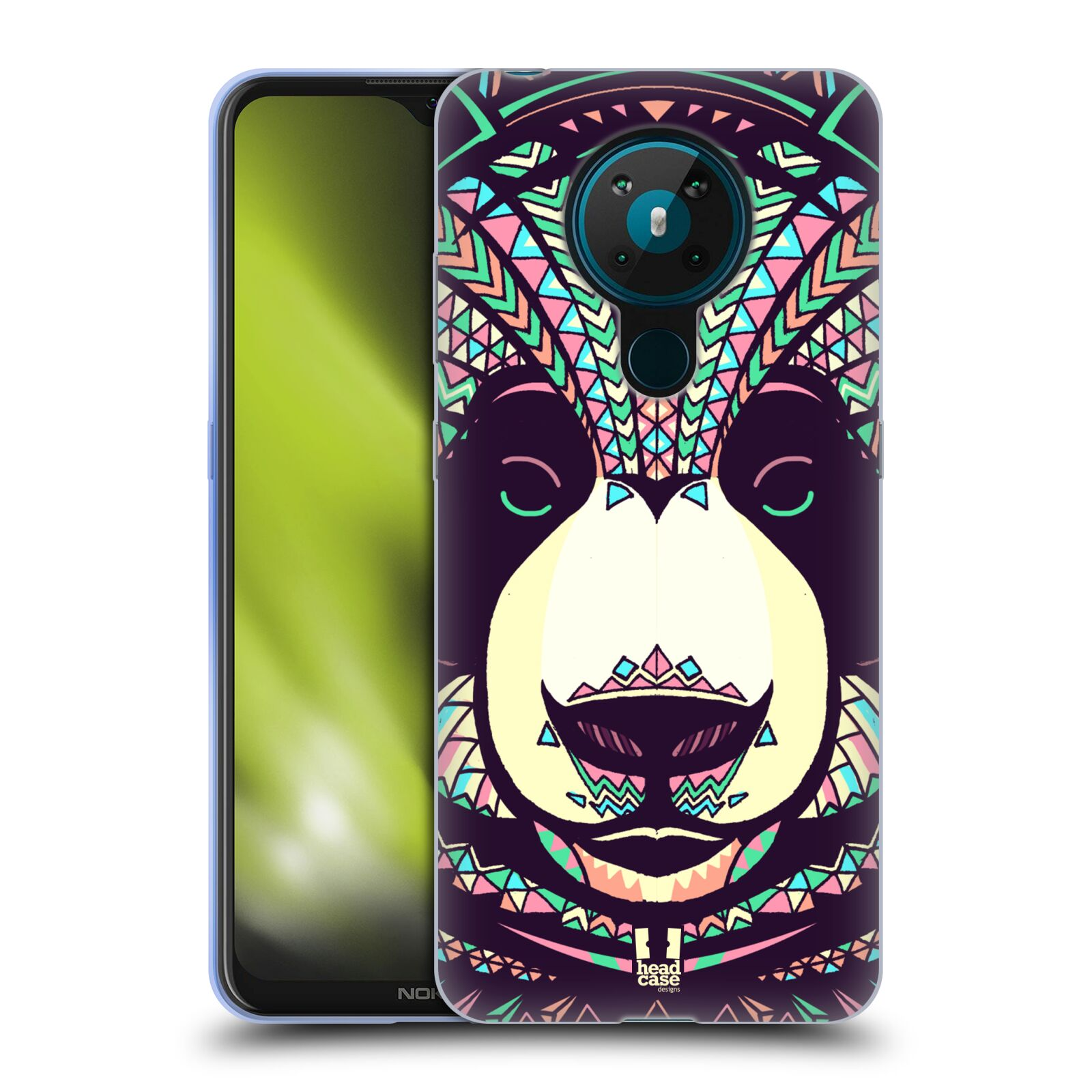 Silikonové pouzdro na mobil Nokia 5.3 - Head Case - AZTEC PANDA