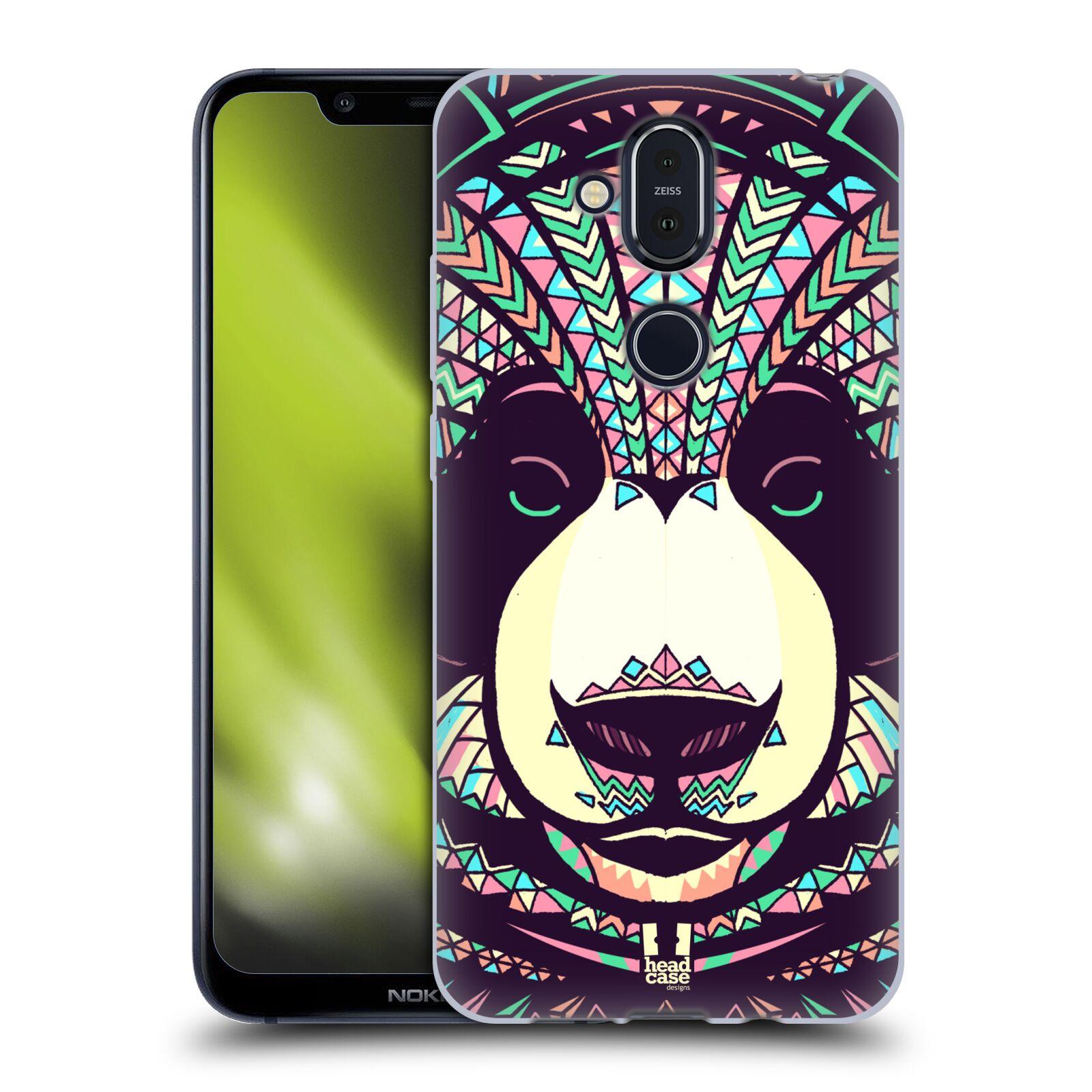 Silikonové pouzdro na mobil Nokia 8.1 - Head Case - AZTEC PANDA