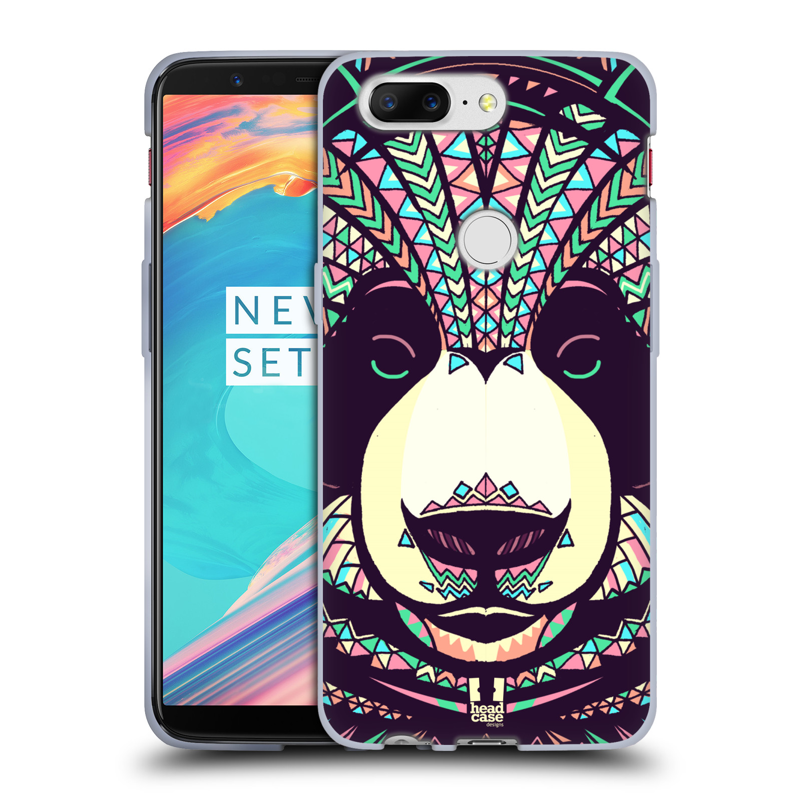Silikonové pouzdro na mobil OnePlus 5T - Head Case - AZTEC PANDA