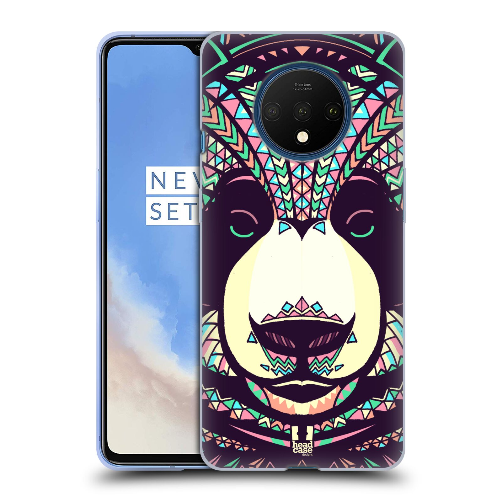 Silikonové pouzdro na mobil OnePlus 7T - Head Case - AZTEC PANDA