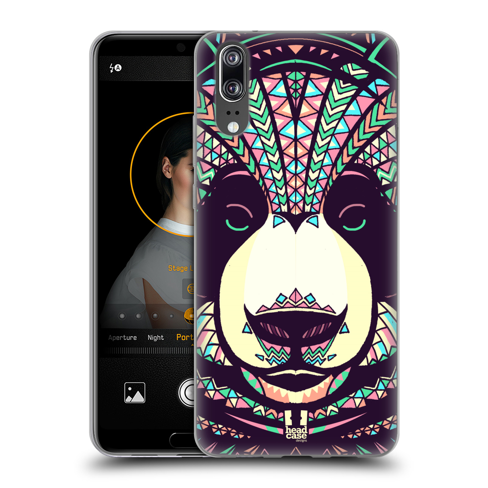 Silikonové pouzdro na mobil Huawei P20 - Head Case - AZTEC PANDA