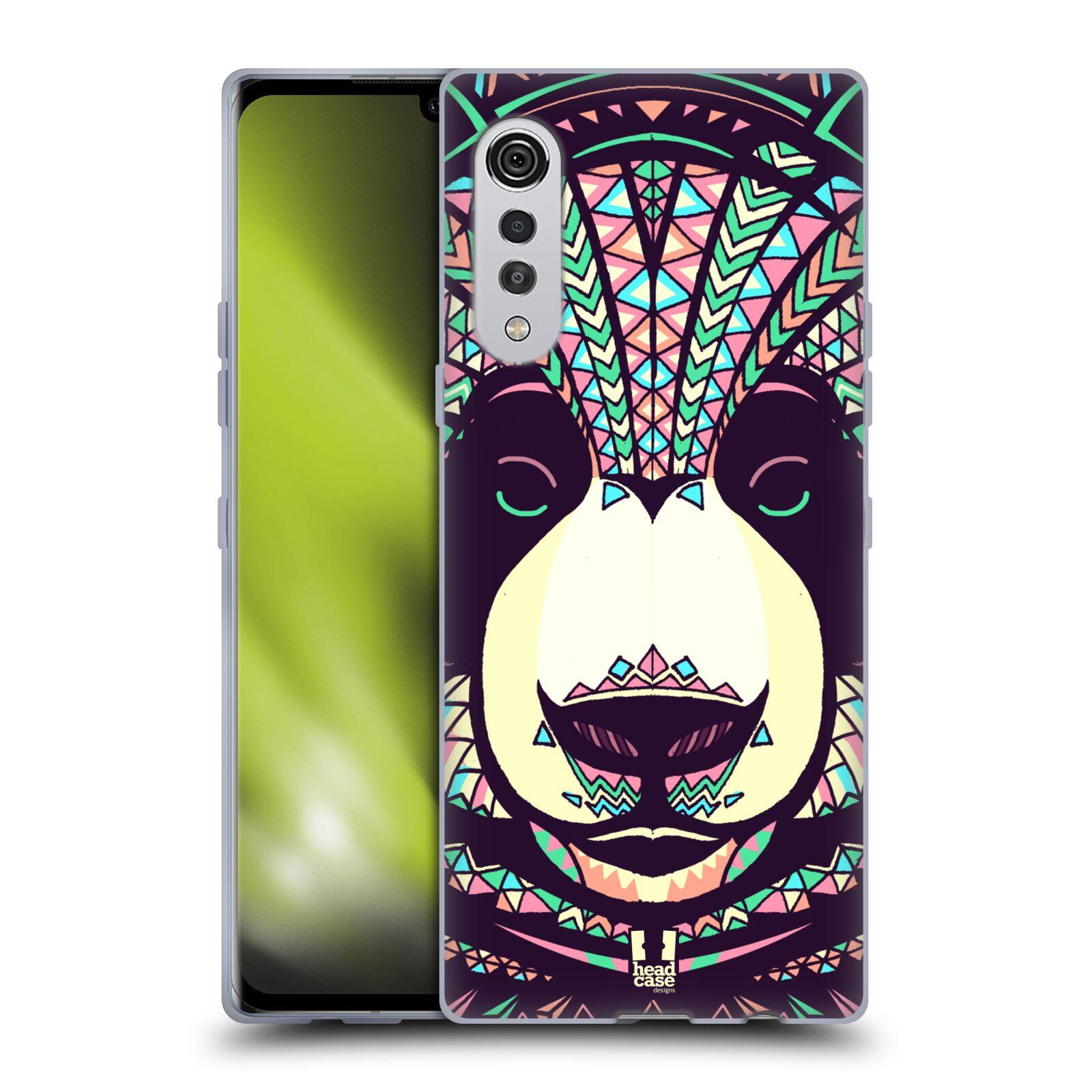 Silikonové pouzdro na mobil LG Velvet - Head Case - AZTEC PANDA