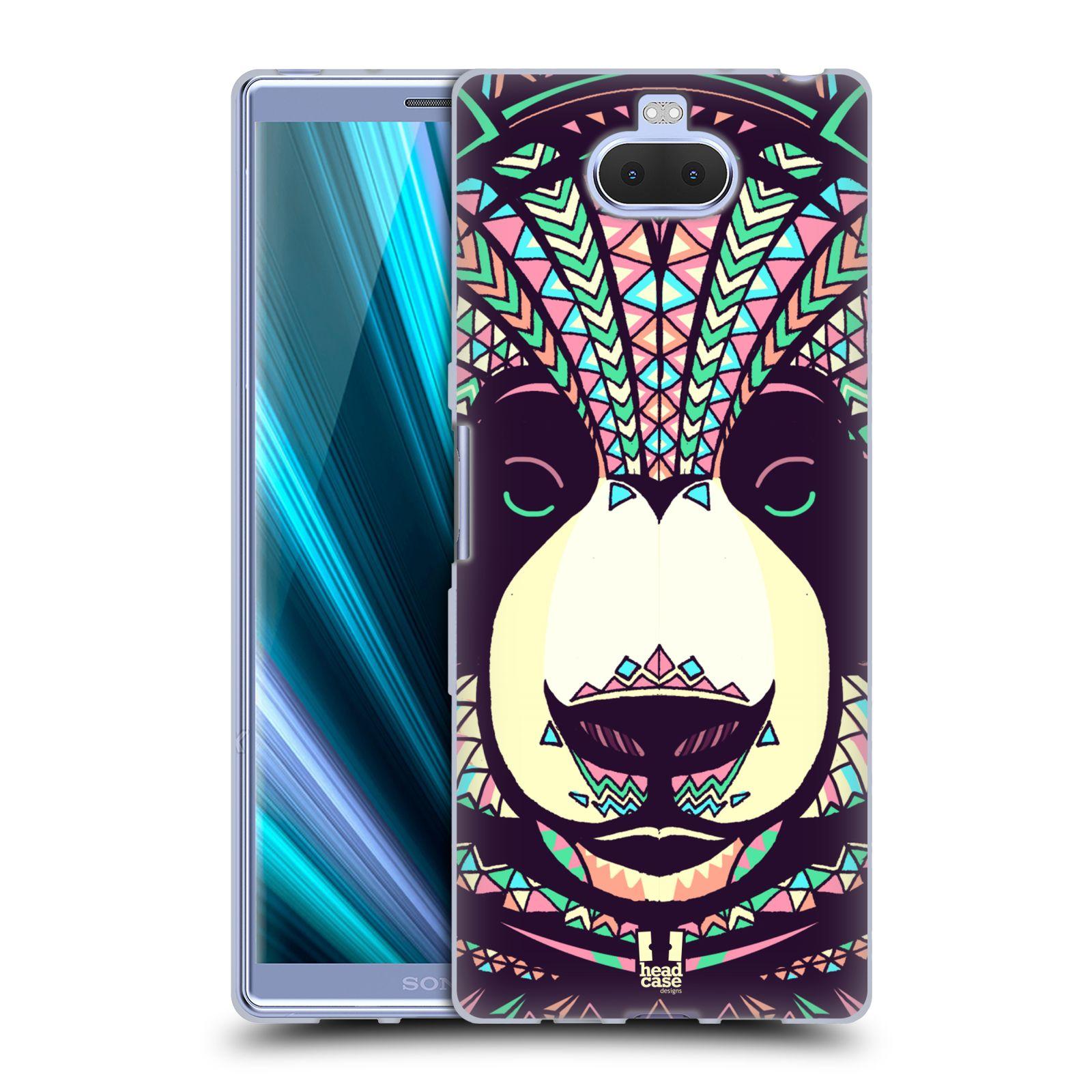 Silikonové pouzdro na mobil Sony Xperia 10 Plus - Head Case - AZTEC PANDA