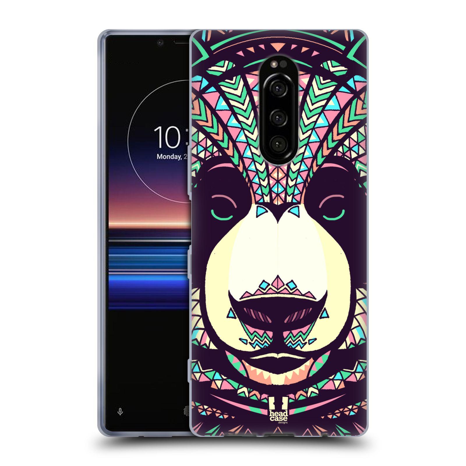 Silikonové pouzdro na mobil Sony Xperia 1 - Head Case - AZTEC PANDA