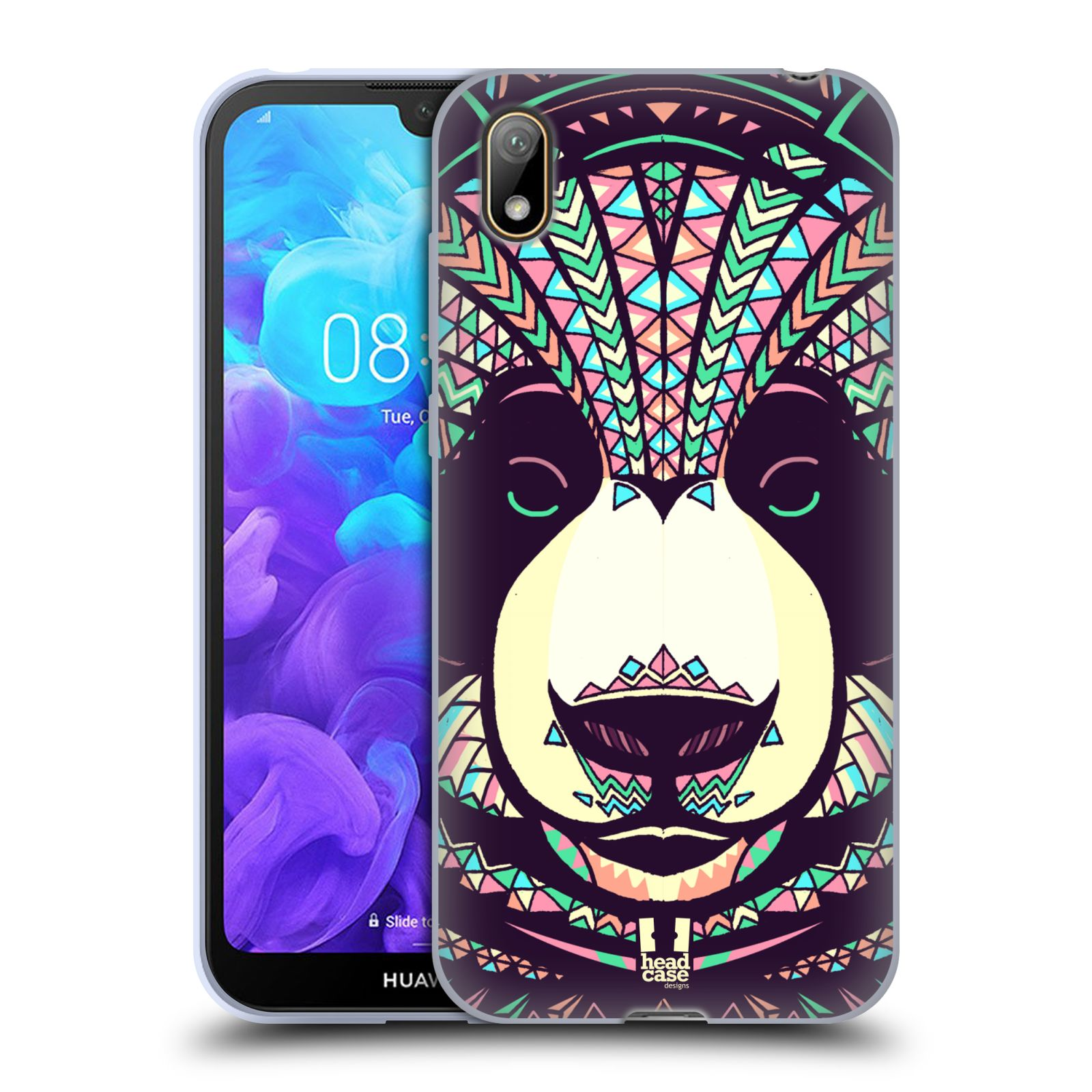 Silikonové pouzdro na mobil Huawei Y5 (2019) - Head Case - AZTEC PANDA
