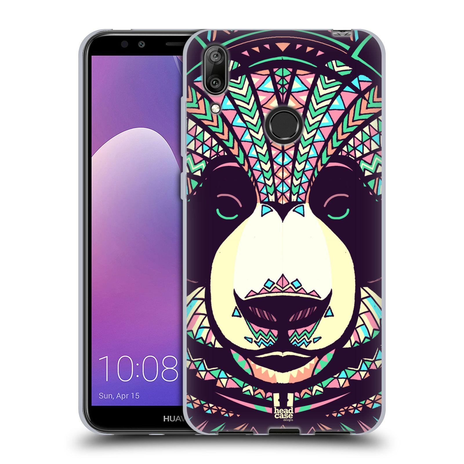 Silikonové pouzdro na mobil Huawei Y7 (2019) - Head Case - AZTEC PANDA