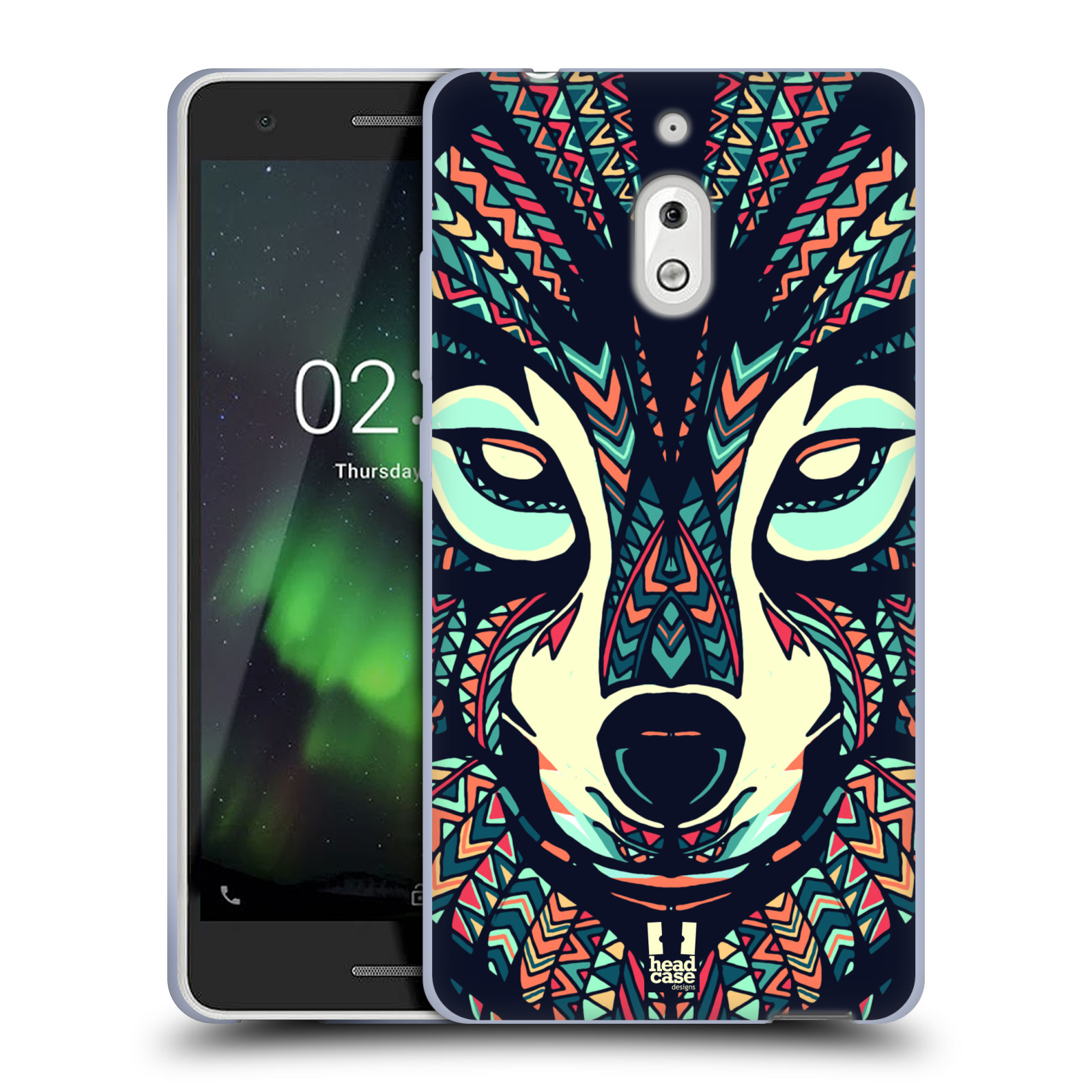 Silikonové pouzdro na mobil Nokia 2.1 - Head Case - AZTEC VLK