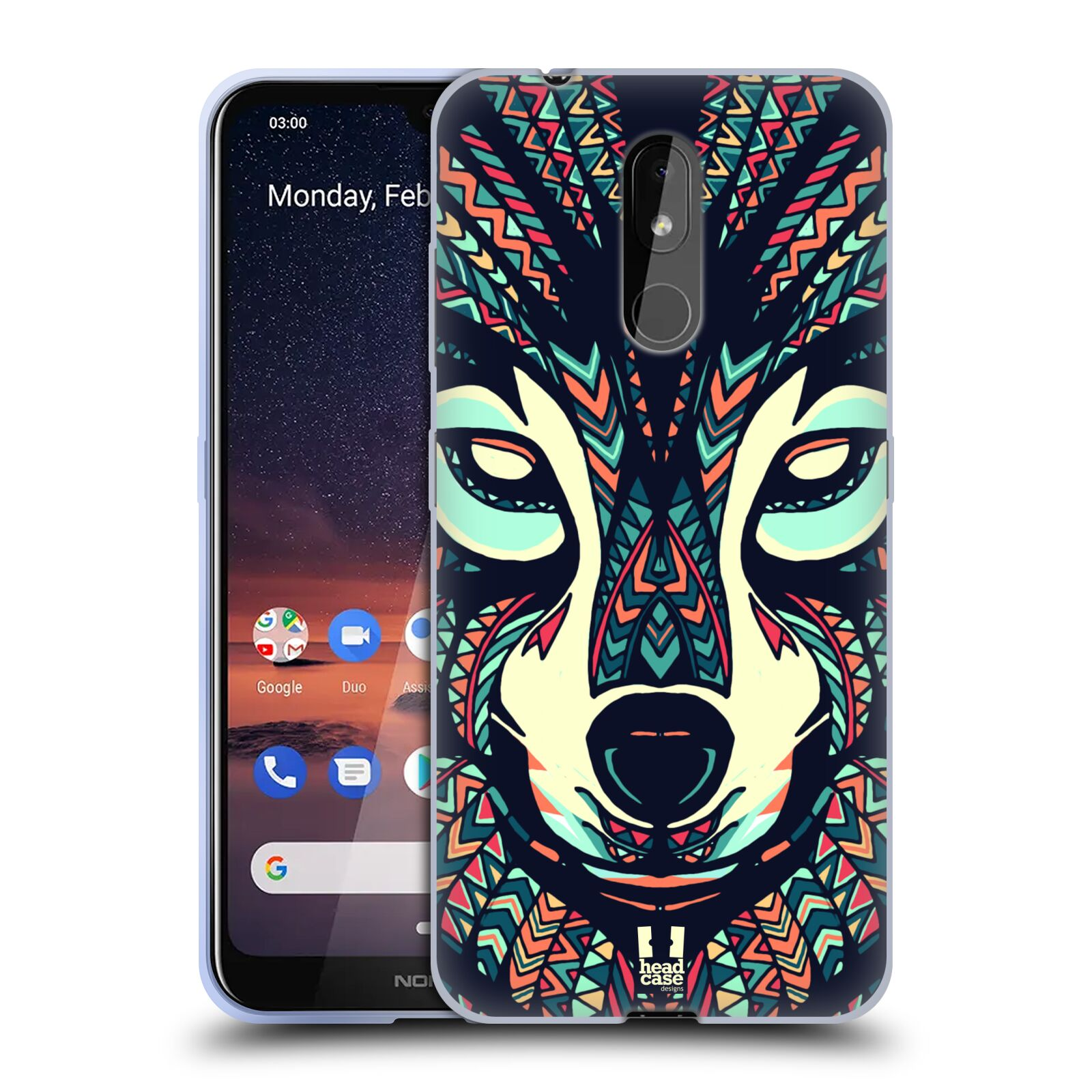 Silikonové pouzdro na mobil Nokia 3.2 - Head Case - AZTEC VLK