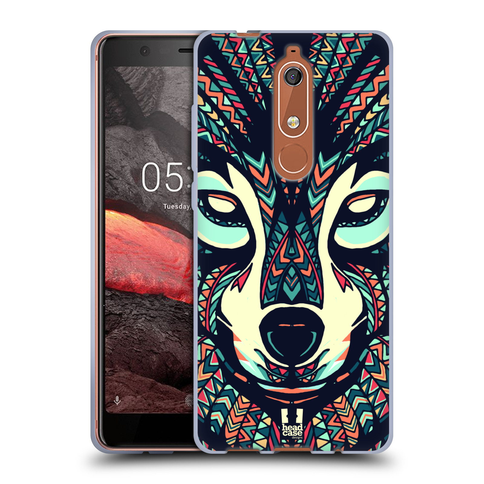 Silikonové pouzdro na mobil Nokia 5.1 - Head Case - AZTEC VLK