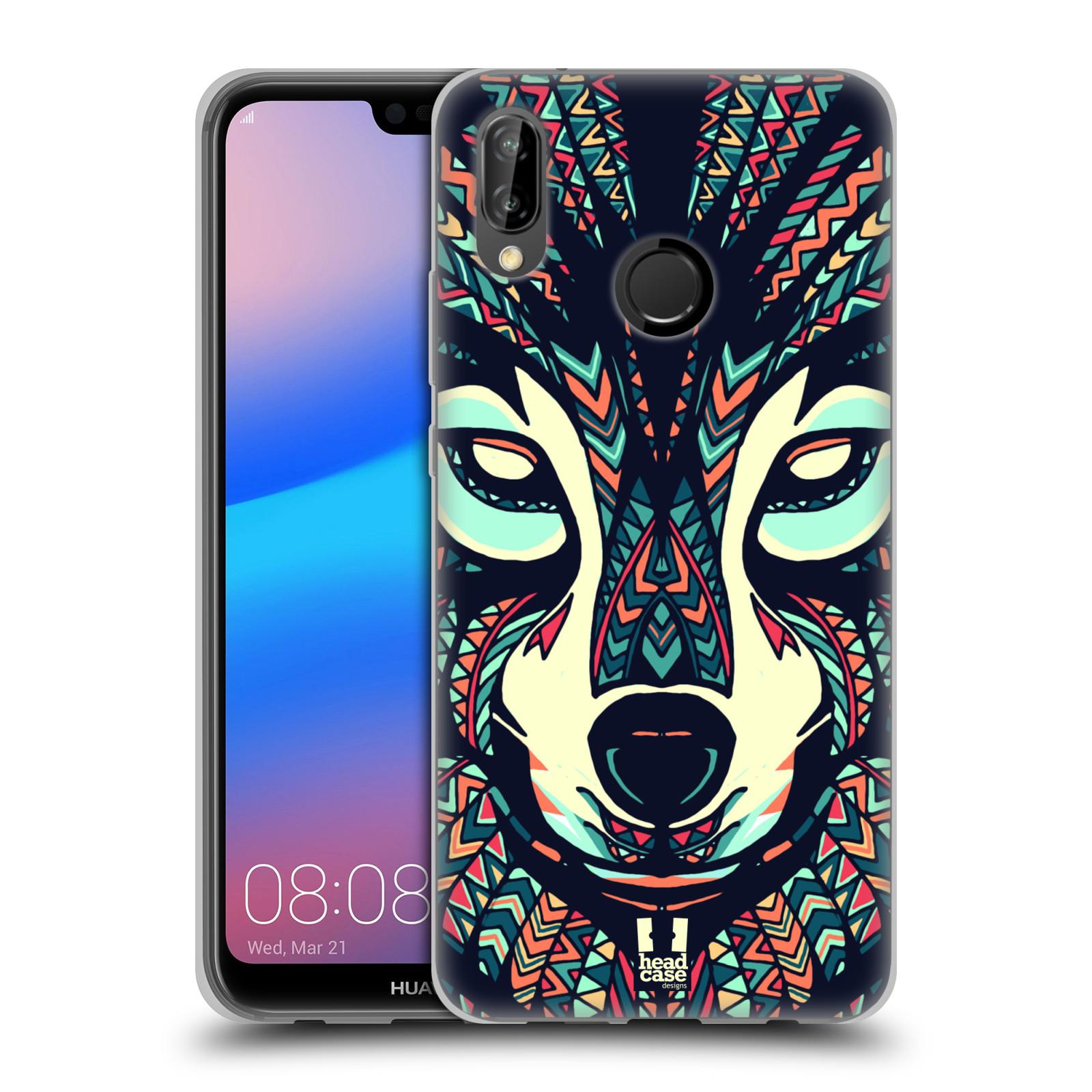Silikonové pouzdro na mobil Huawei P20 Lite - Head Case - AZTEC VLK (Silikonový kryt či obal na mobilní telefon Huawei P20 Lite Dual SIM s motivem AZTEC VLK)