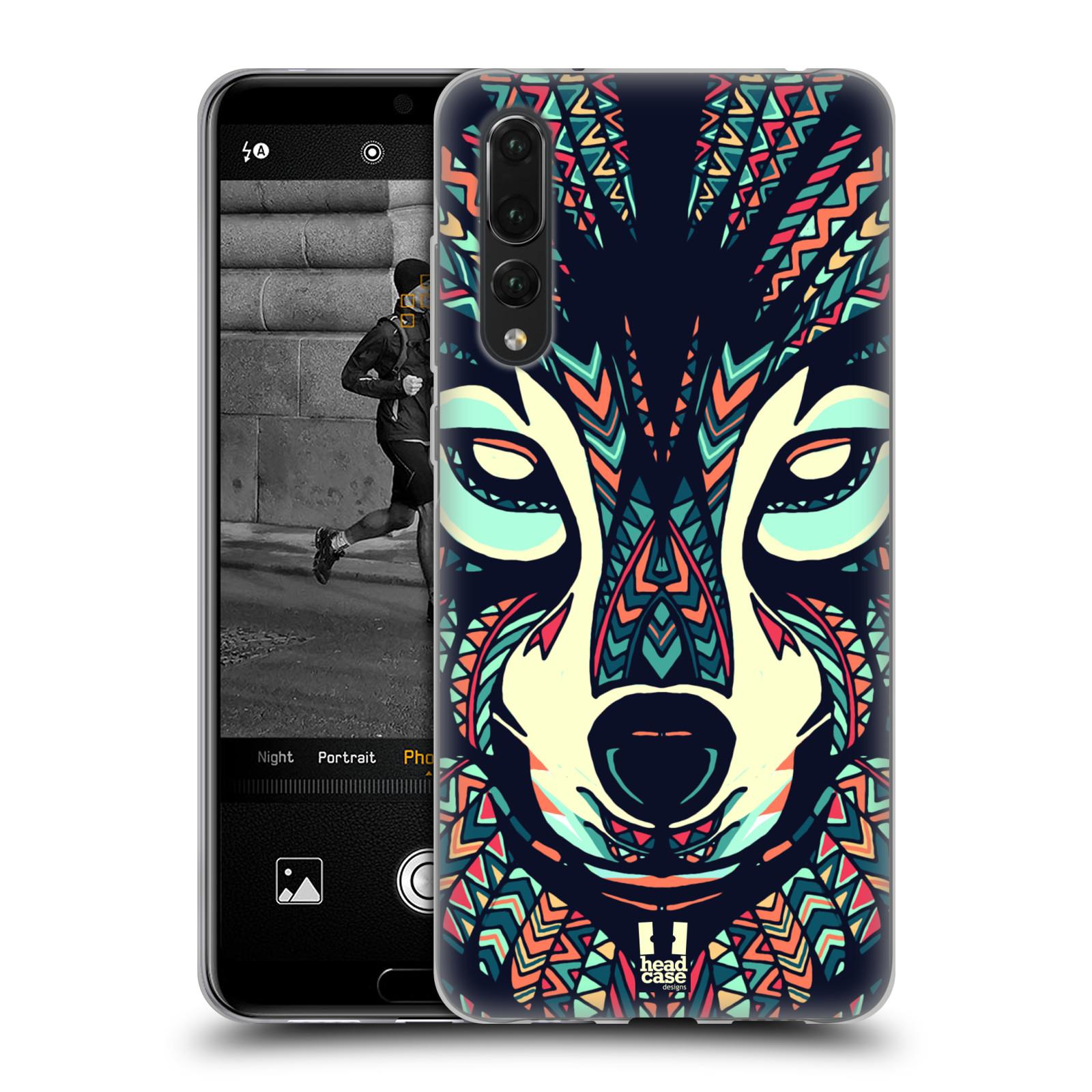 Silikonové pouzdro na mobil Huawei P20 Pro - Head Case - AZTEC VLK (Silikonový kryt či obal na mobilní telefon Huawei P20 Pro Dual SIM s motivem AZTEC VLK)