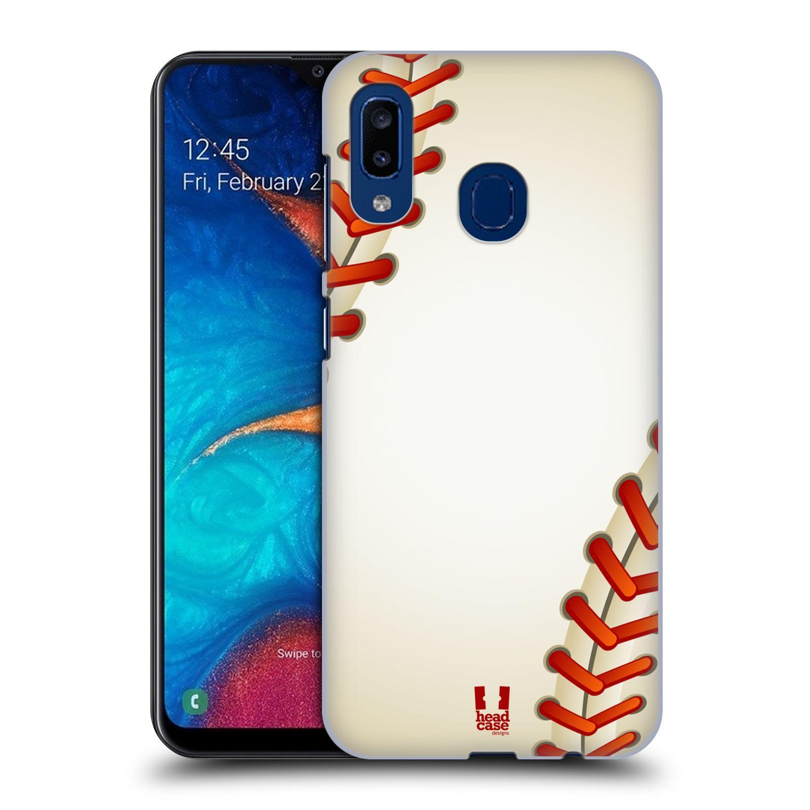 Plastové pouzdro na mobil Samsung Galaxy A20 - Head Case - Baseballový míček