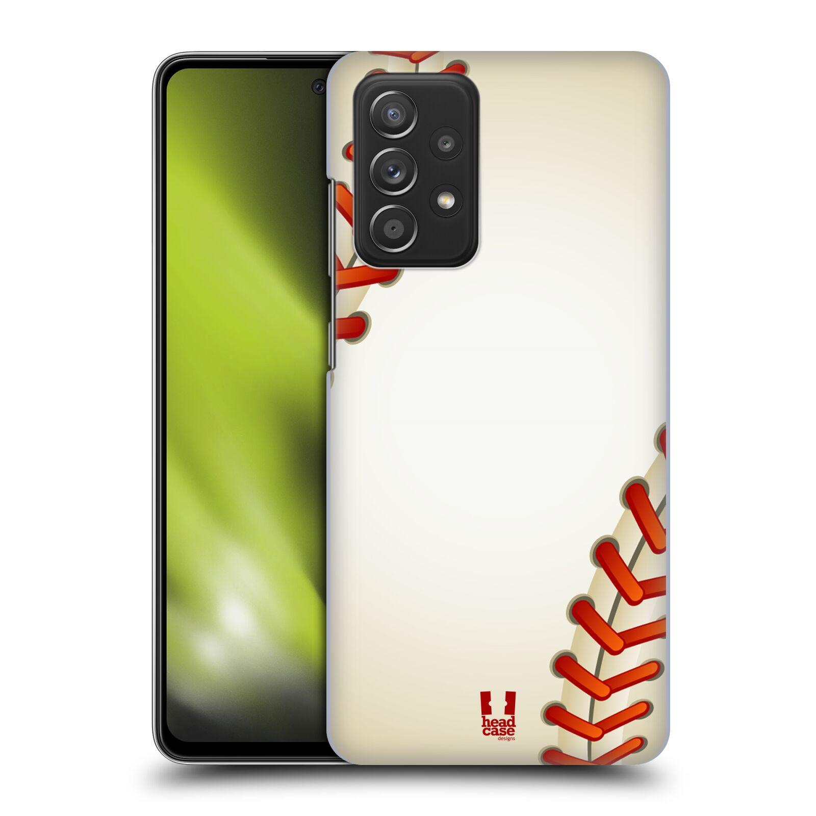 Plastové pouzdro na mobil Samsung Galaxy A52 / A52 5G / A52s 5G - Head Case - Baseballový míček