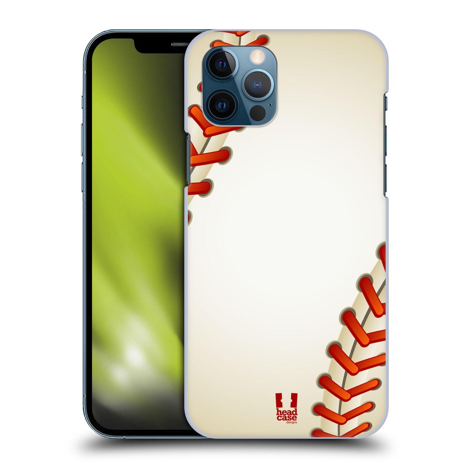 Plastové pouzdro na mobil Apple iPhone 12 / 12 Pro - Head Case - Baseballový míček