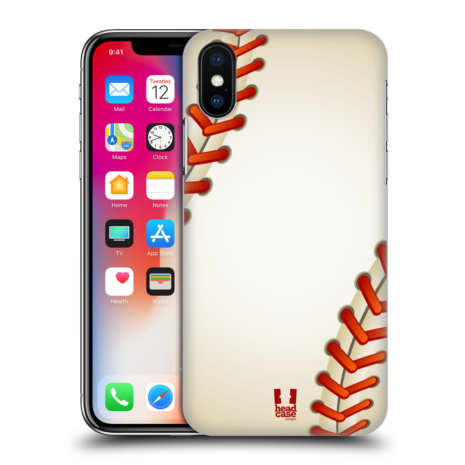 Plastové pouzdro na mobil Apple iPhone X - Head Case - Baseballový míček