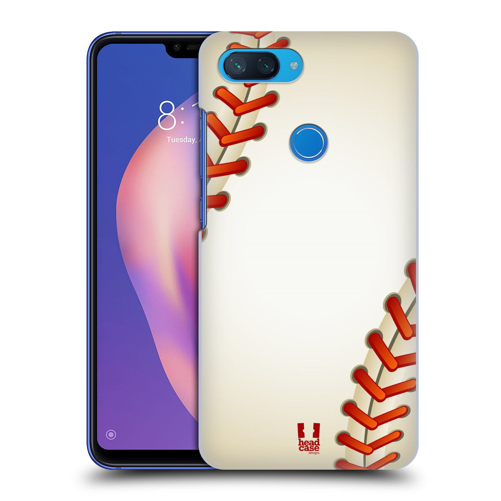 Plastové pouzdro na mobil Xiaomi Mi 8 Lite - Head Case - Baseballový míček