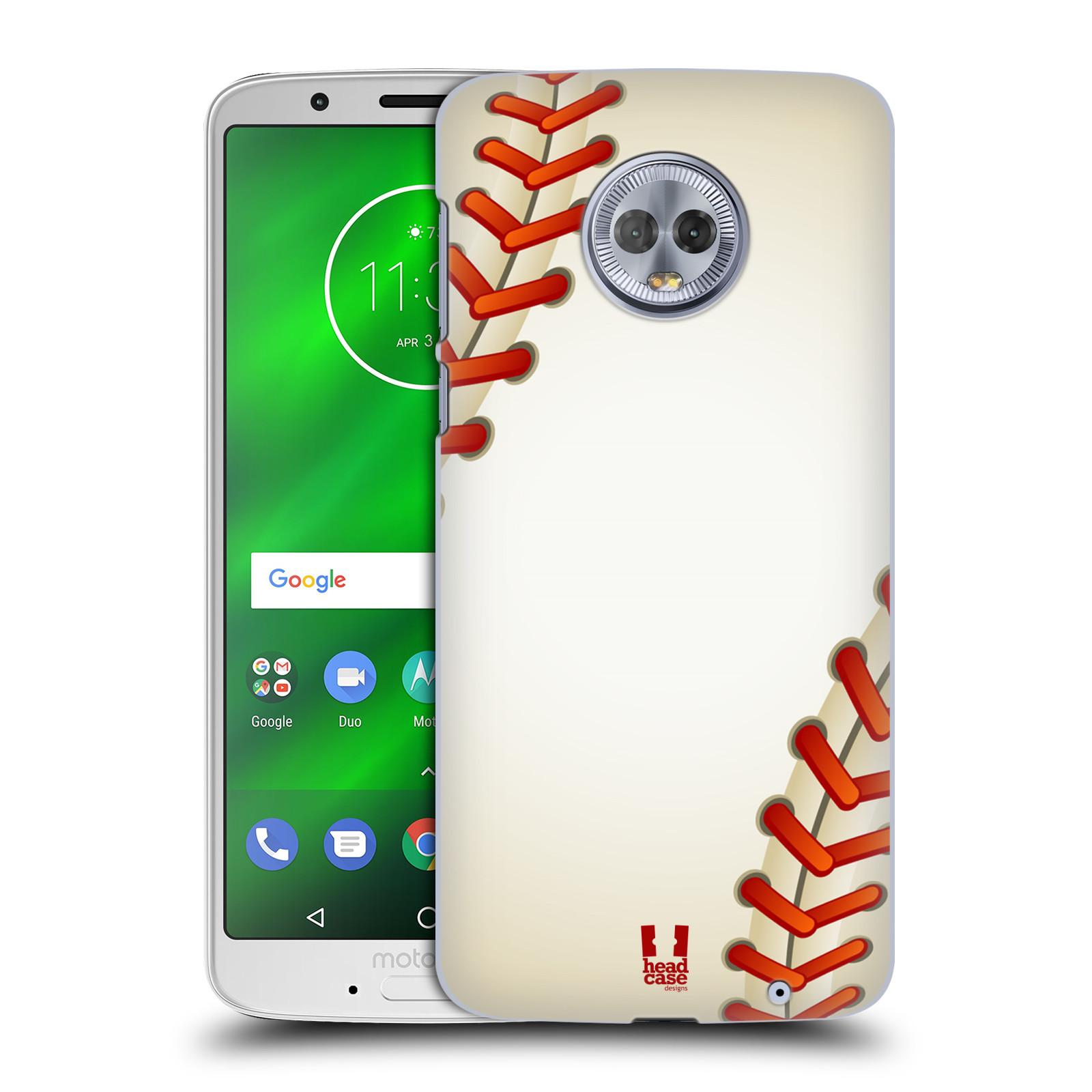 Plastové pouzdro na mobil Motorola Moto G6 Plus - Head Case - Baseballový míček