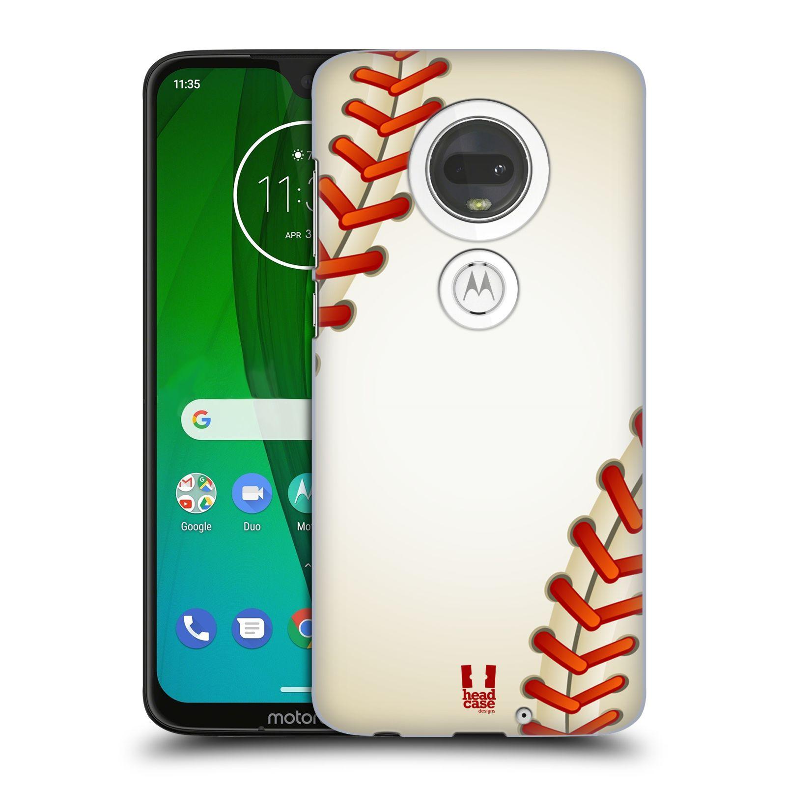 Plastové pouzdro na mobil Motorola Moto G7 - Head Case - Baseballový míček