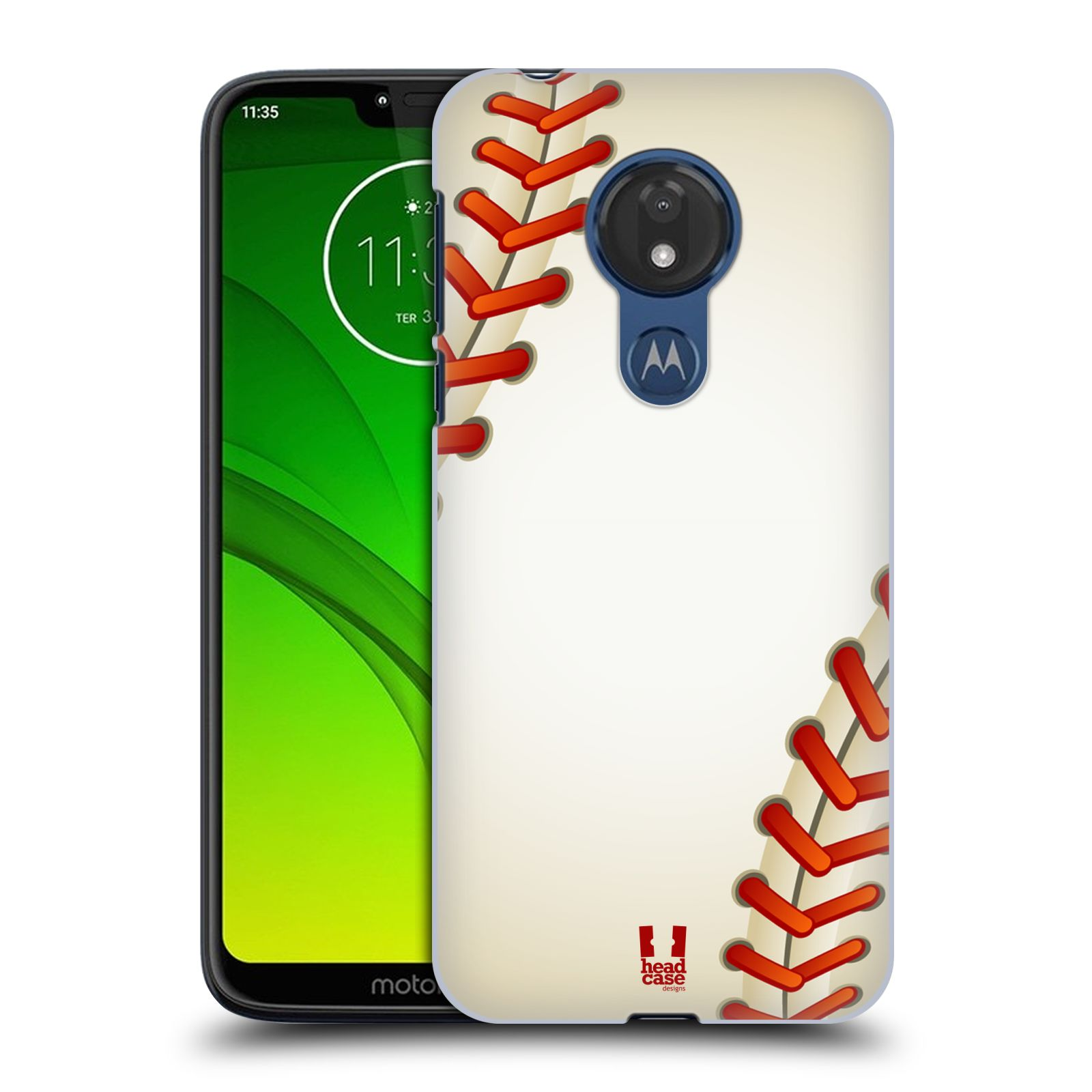 Plastové pouzdro na mobil Motorola Moto G7 Power - Head Case - Baseballový míček