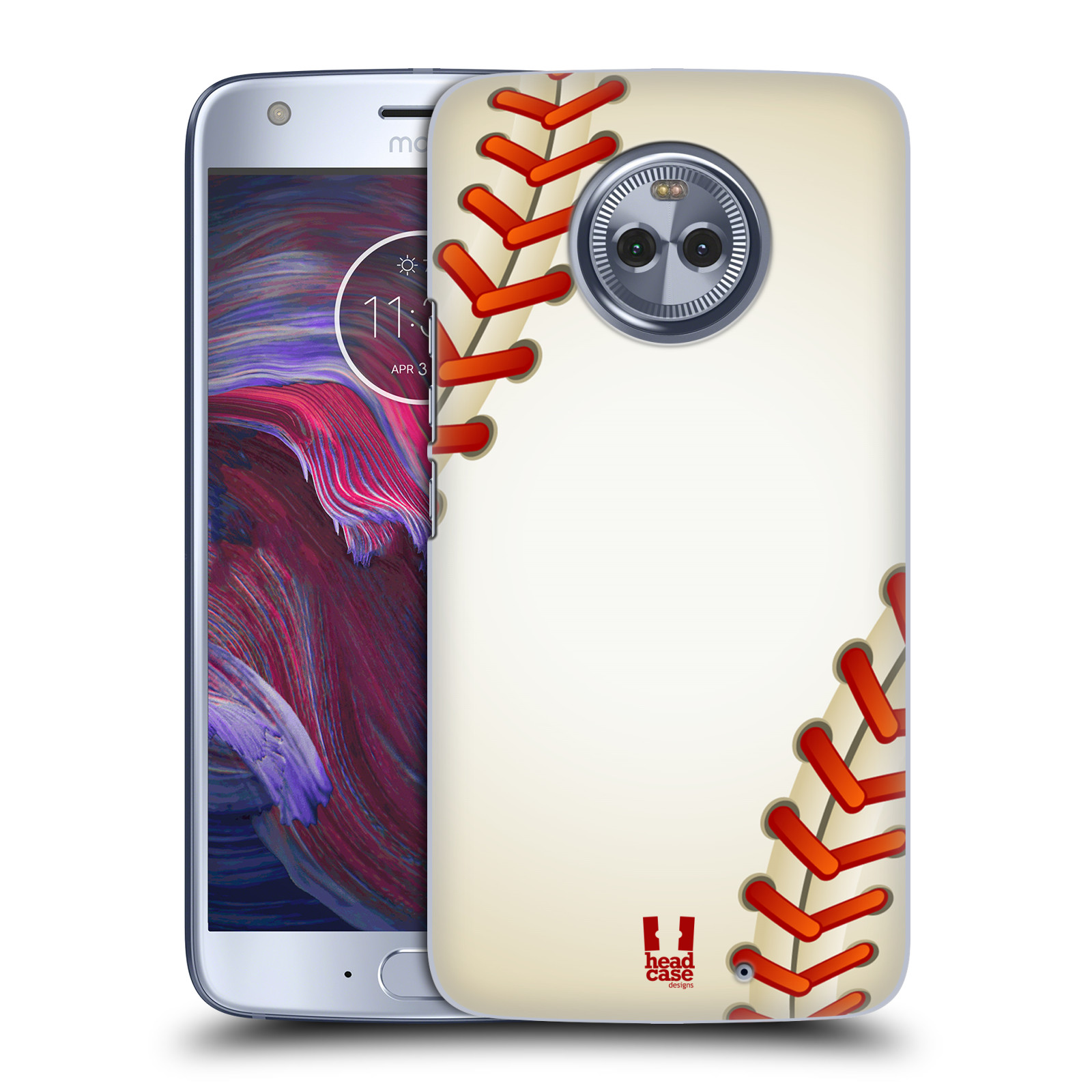 Plastové pouzdro na mobil Lenovo Moto X4 - Head Case - Baseballový míček