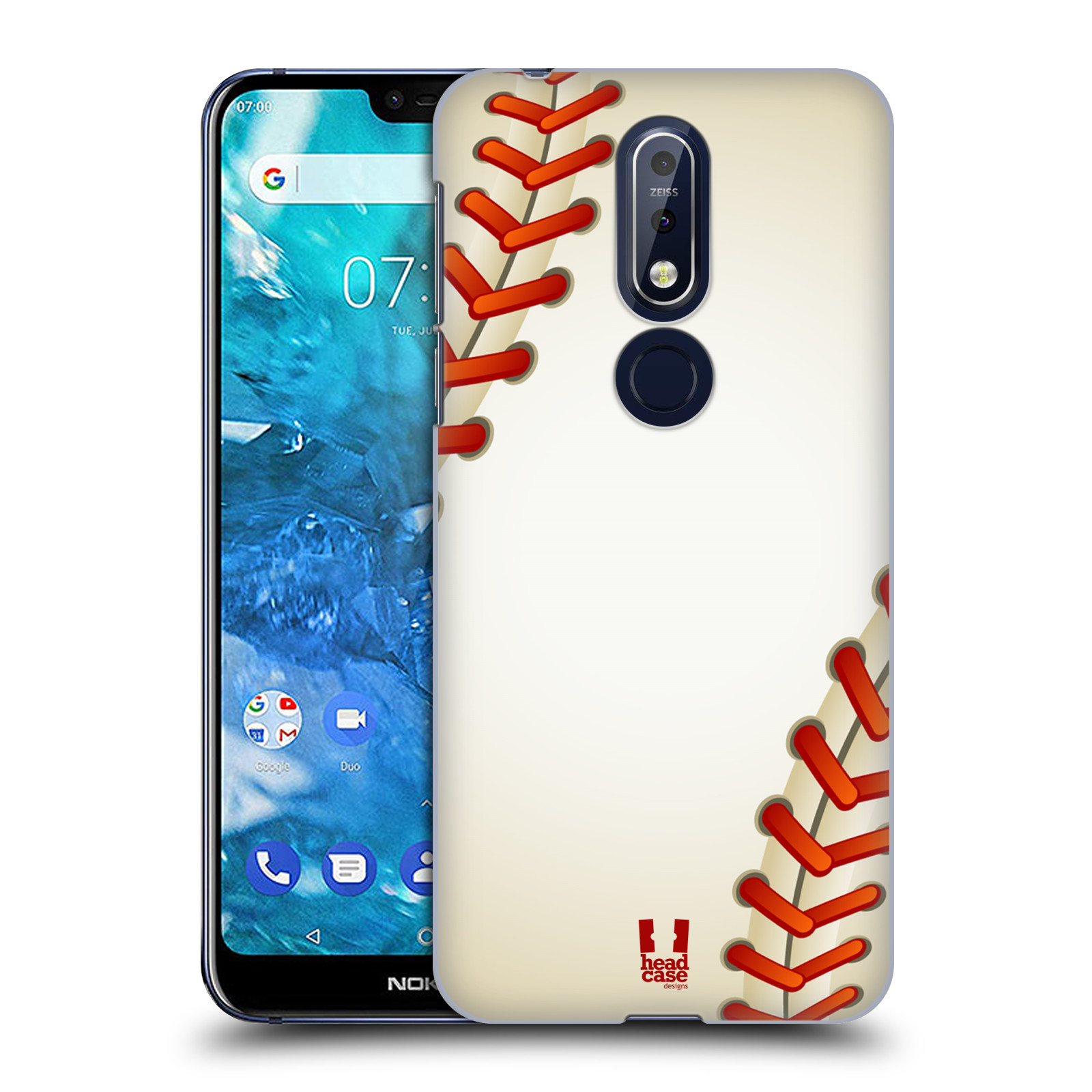 Plastové pouzdro na mobil Nokia 7.1 - Head Case - Baseballový míček