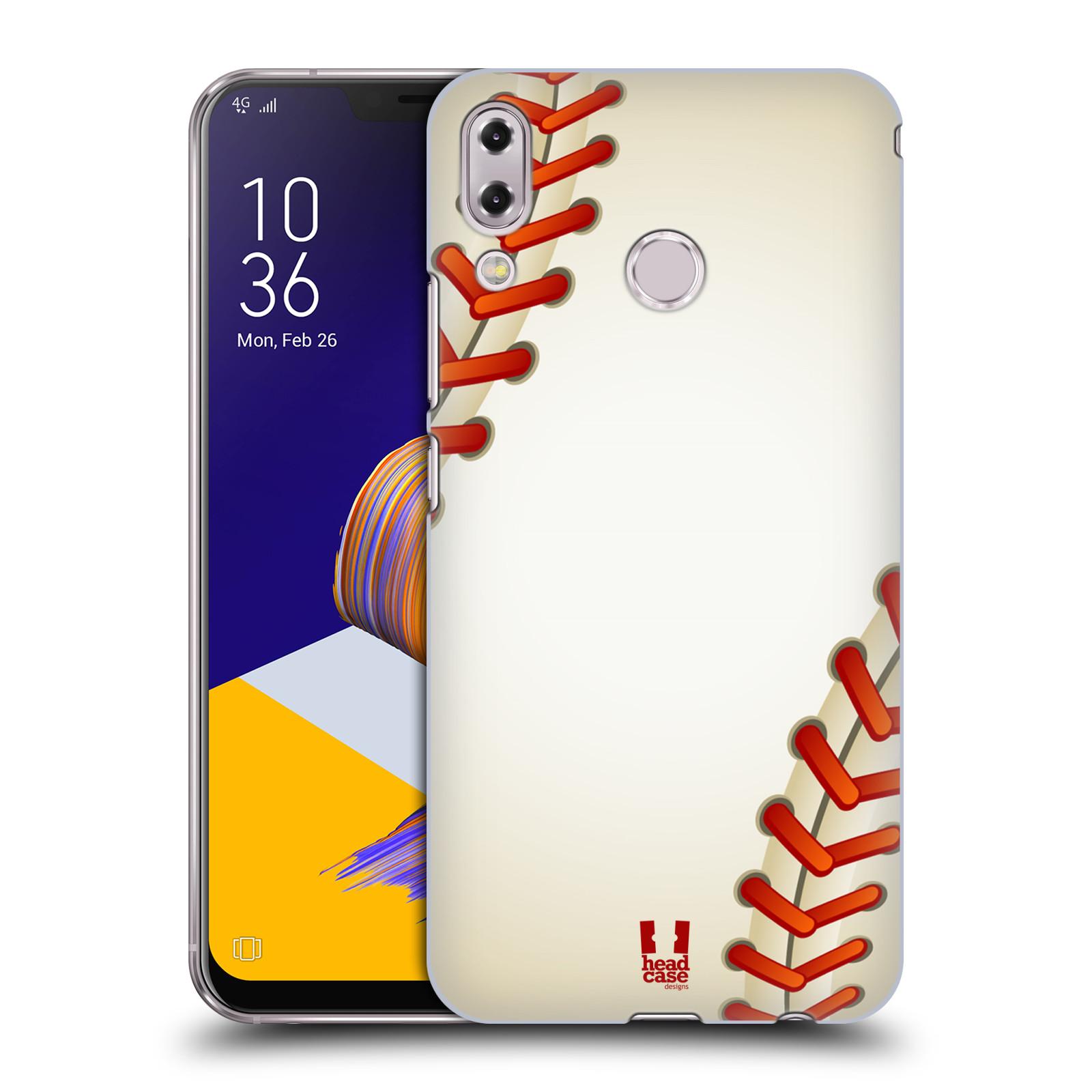 Plastové pouzdro na mobil Asus Zenfone 5z ZS620KL - Head Case - Baseballový míček