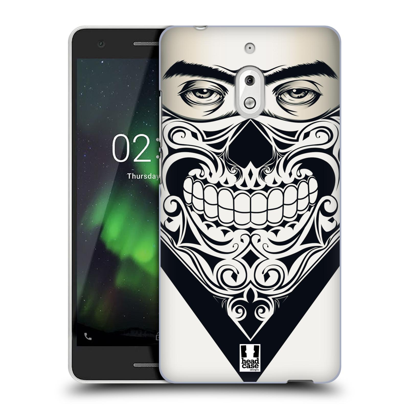 Plastové pouzdro na mobil Nokia 2.1 - Head Case - LEBKA BANDANA