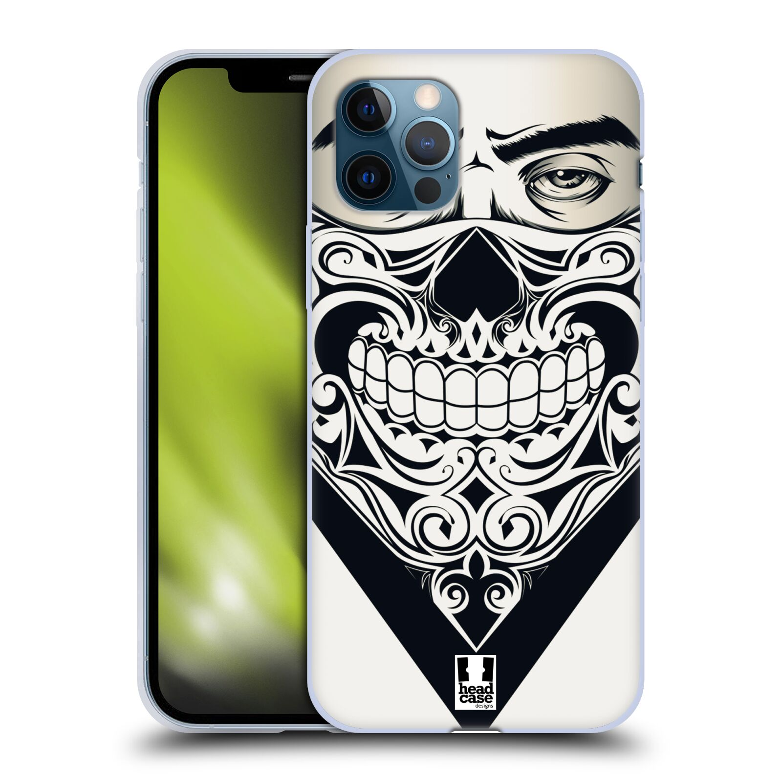 Silikonové pouzdro na mobil Apple iPhone 12 / 12 Pro - Head Case - LEBKA BANDANA