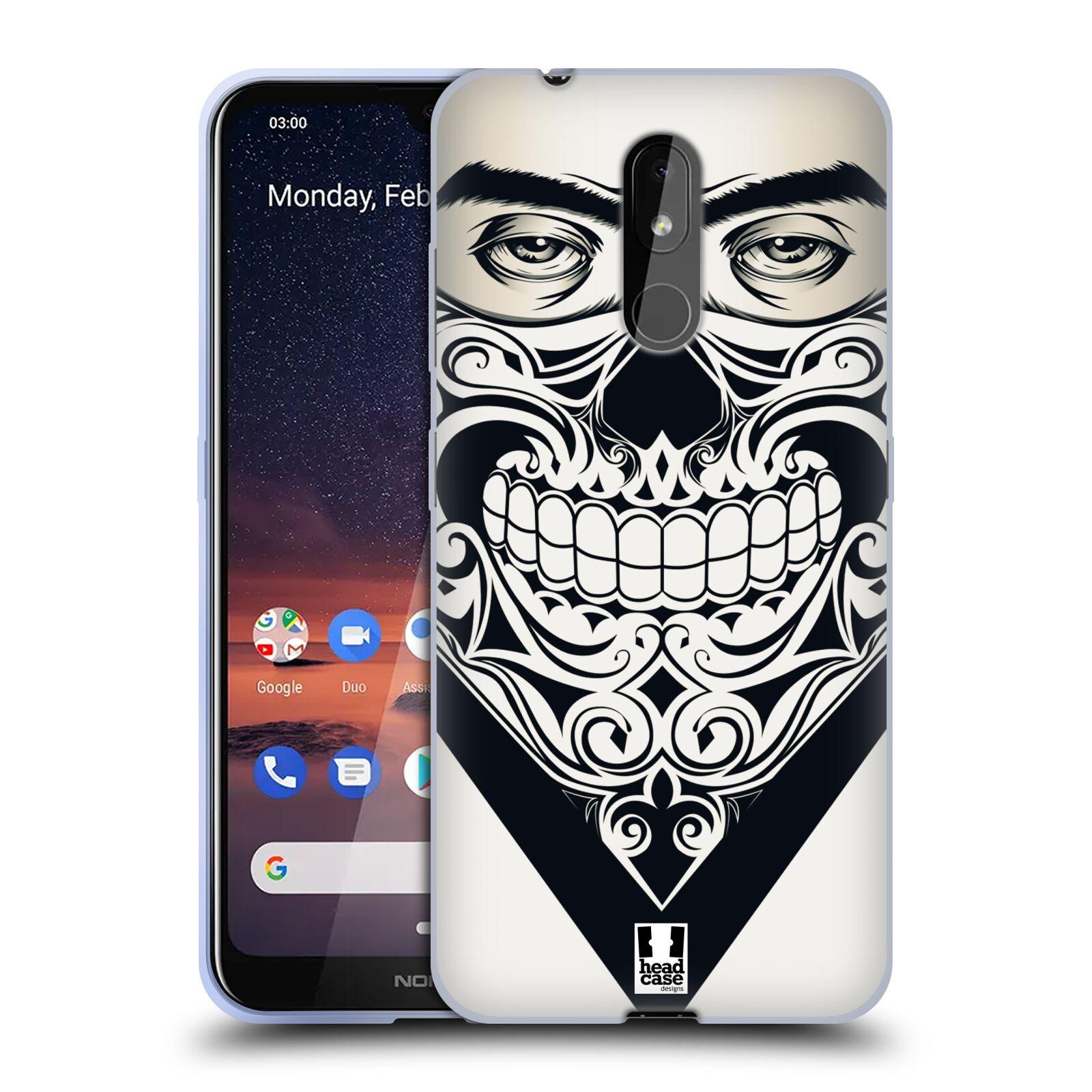 Silikonové pouzdro na mobil Nokia 3.2 - Head Case - LEBKA BANDANA
