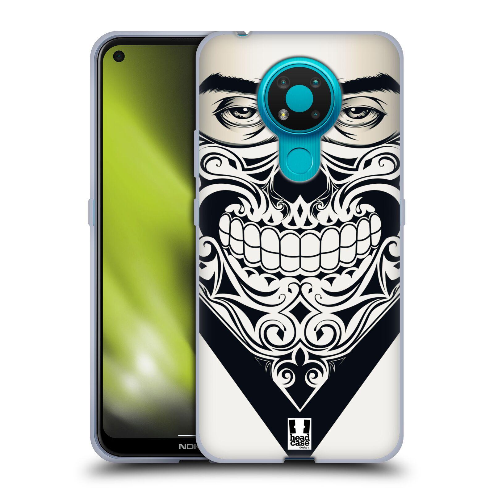 Silikonové pouzdro na mobil Nokia 3.4 - Head Case - LEBKA BANDANA
