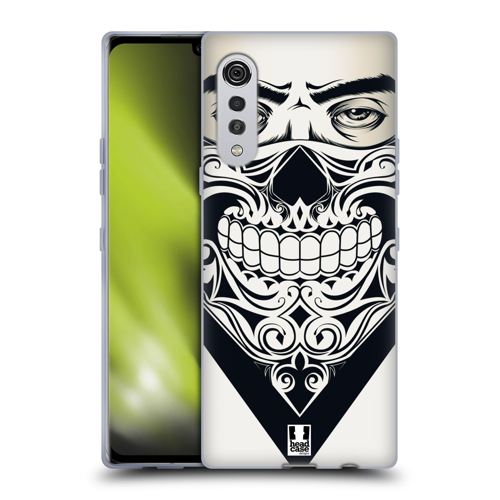 Silikonové pouzdro na mobil LG Velvet - Head Case - LEBKA BANDANA