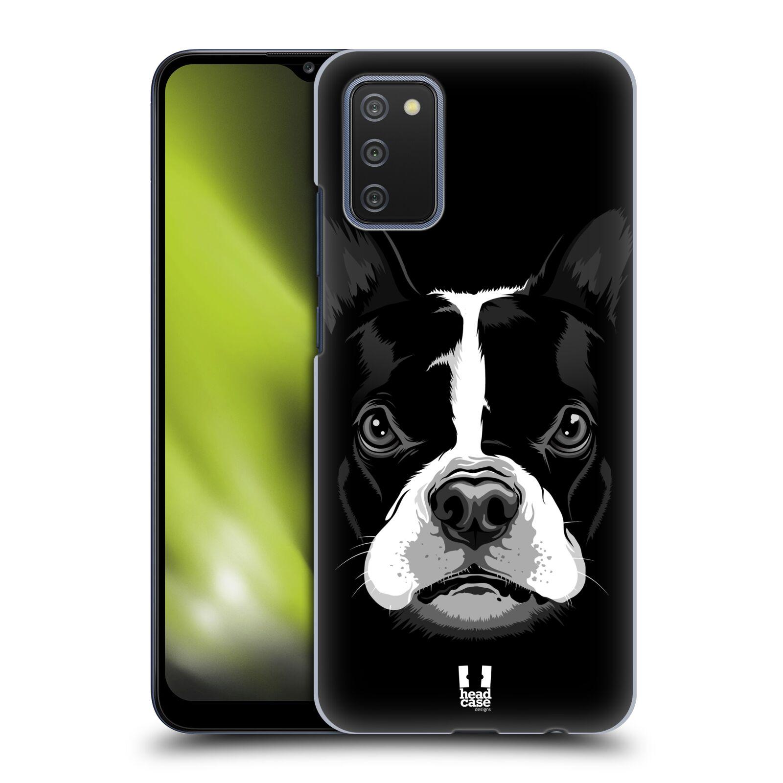 Plastové pouzdro na mobil Samsung Galaxy A02s - Head Case - ILUSTROVANÝ BULDOČEK